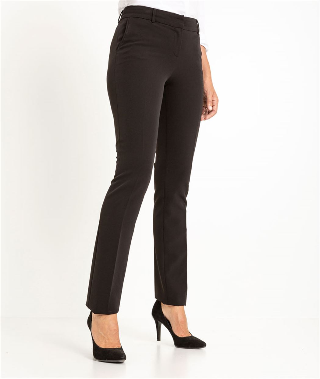 Pantalon femme city chic NOIR