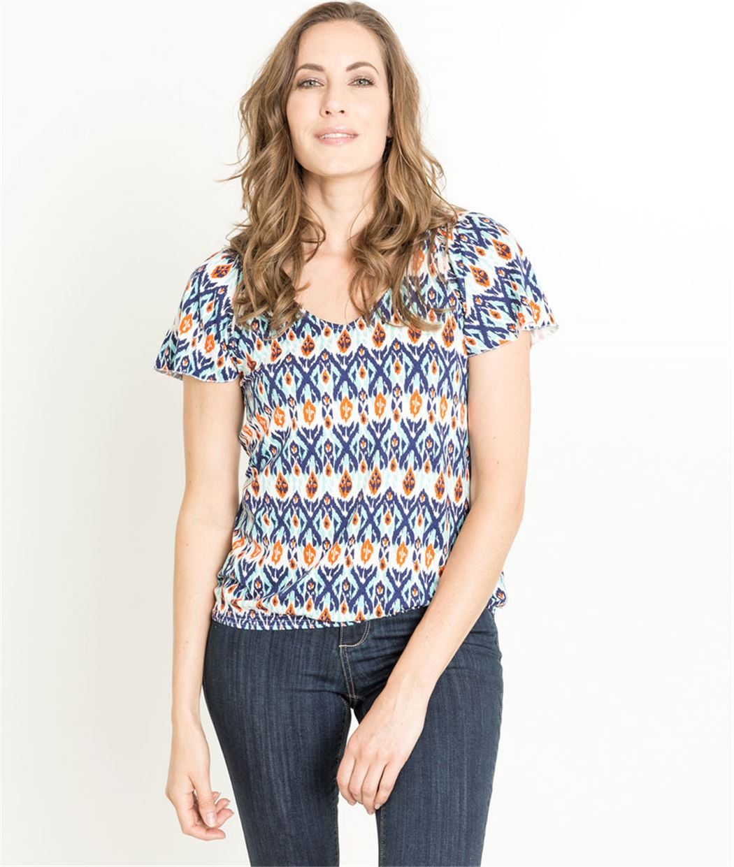 T-shirt femme manches courtes imprimé CAPUCINE
