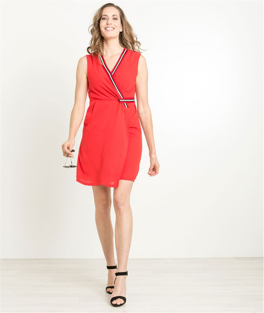 Robe femme rouge sport ROUGE