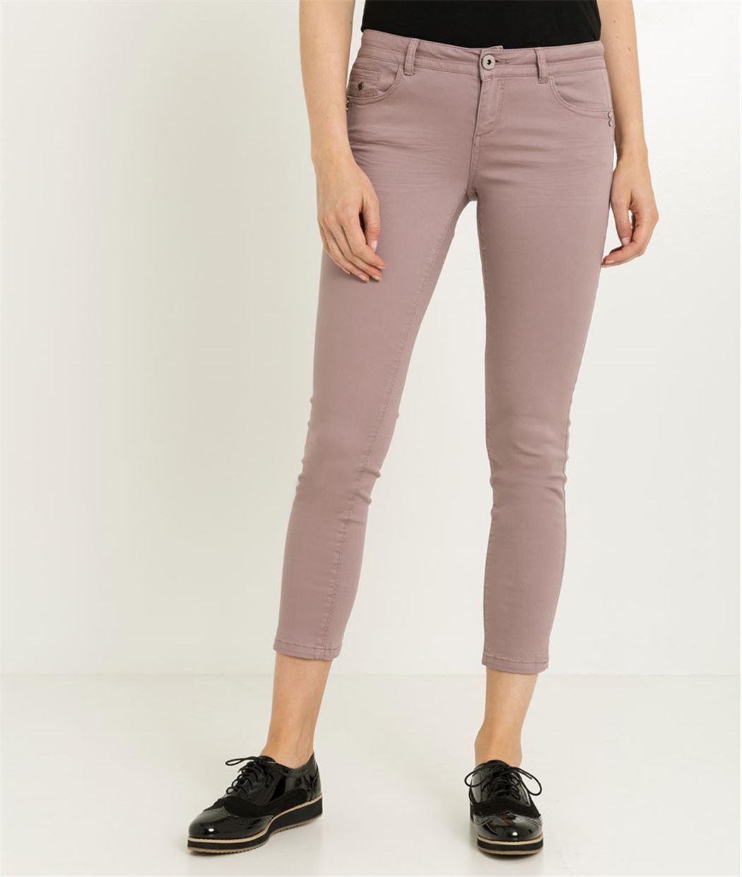 Pantalon femme 7/8ème couleur BRUYERE