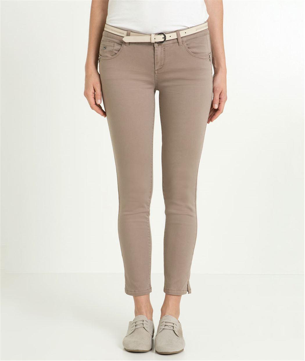 Pantalon femme 7/8ème couleur TAUPE