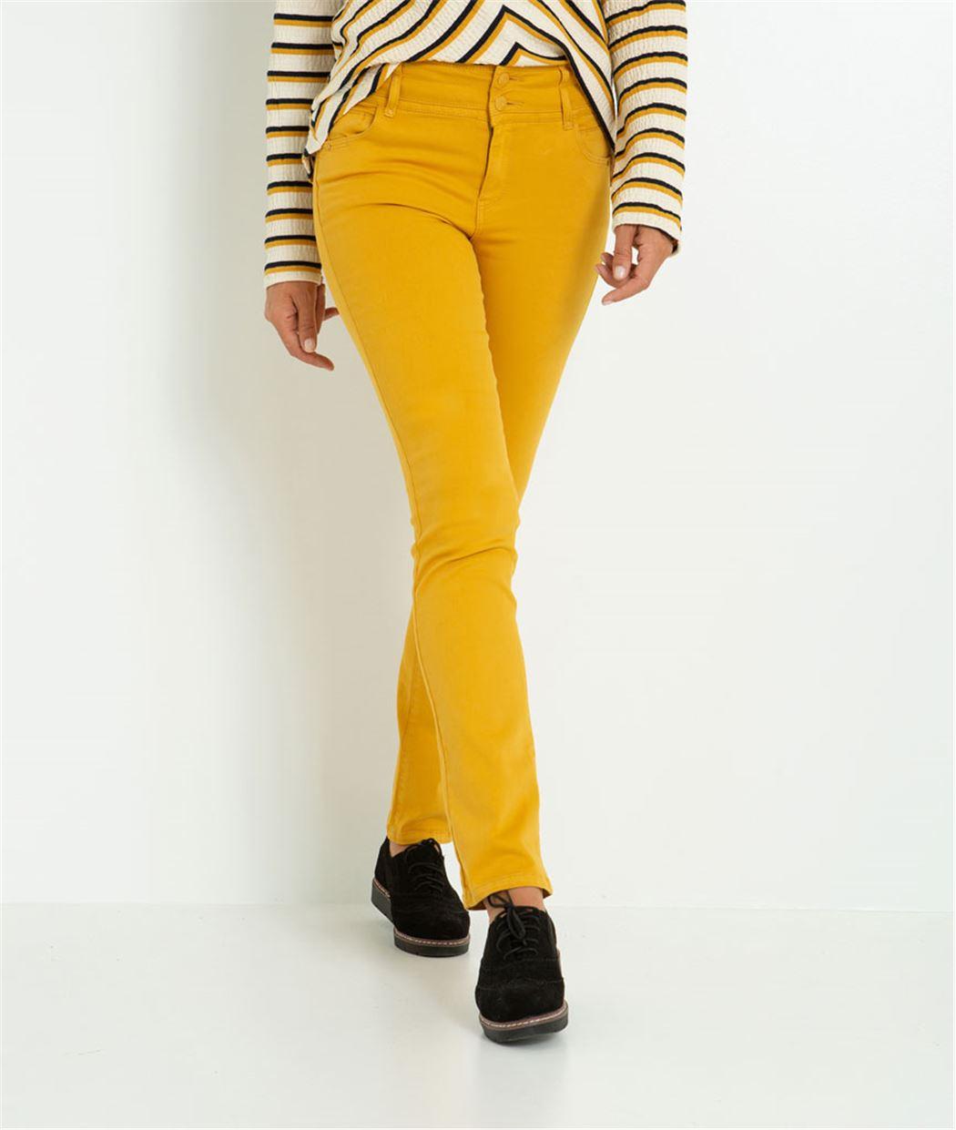 Pantalon femme droit taille haute CURRY