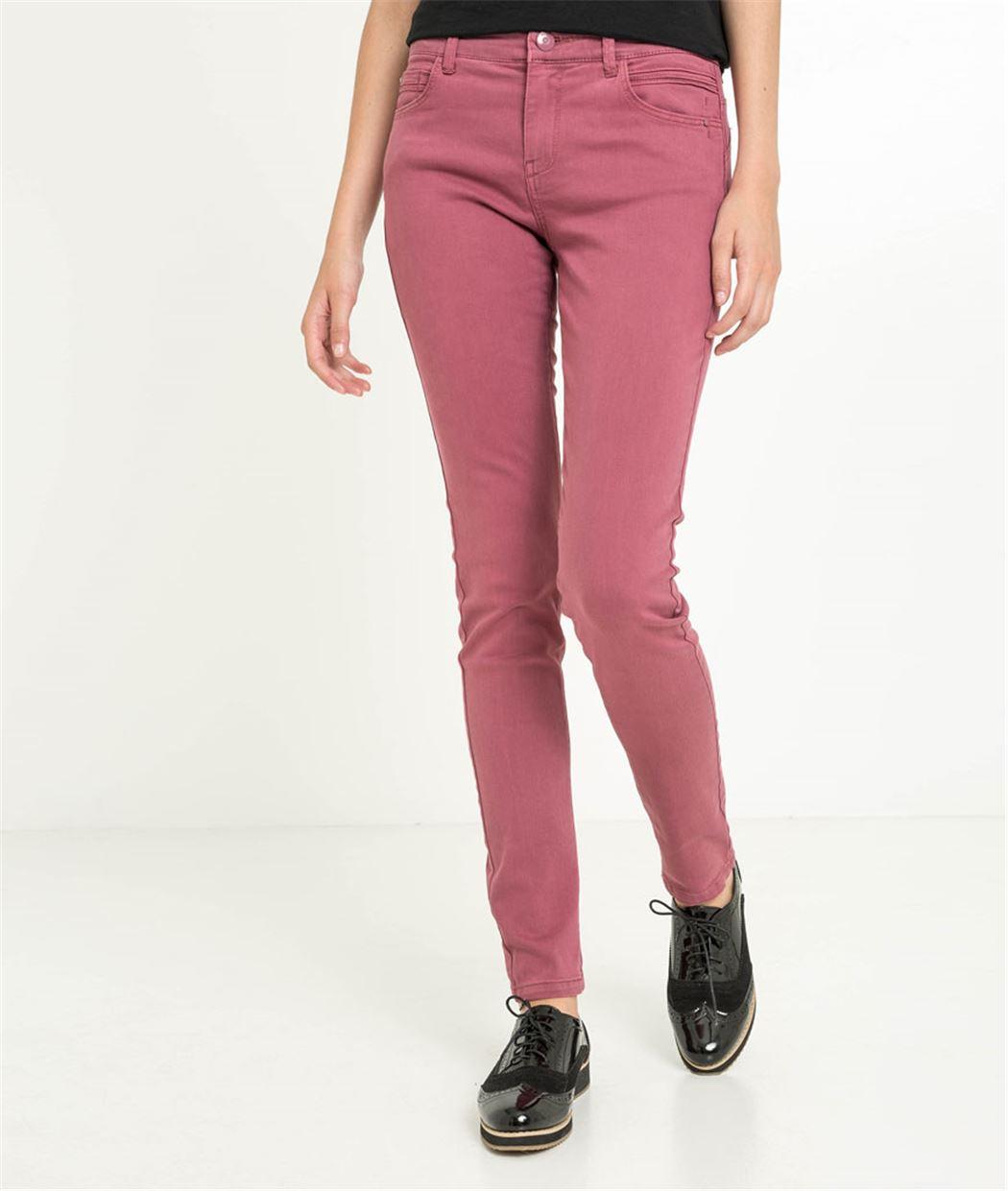 Pantalon slim couleur effet push up ORCHIDEE