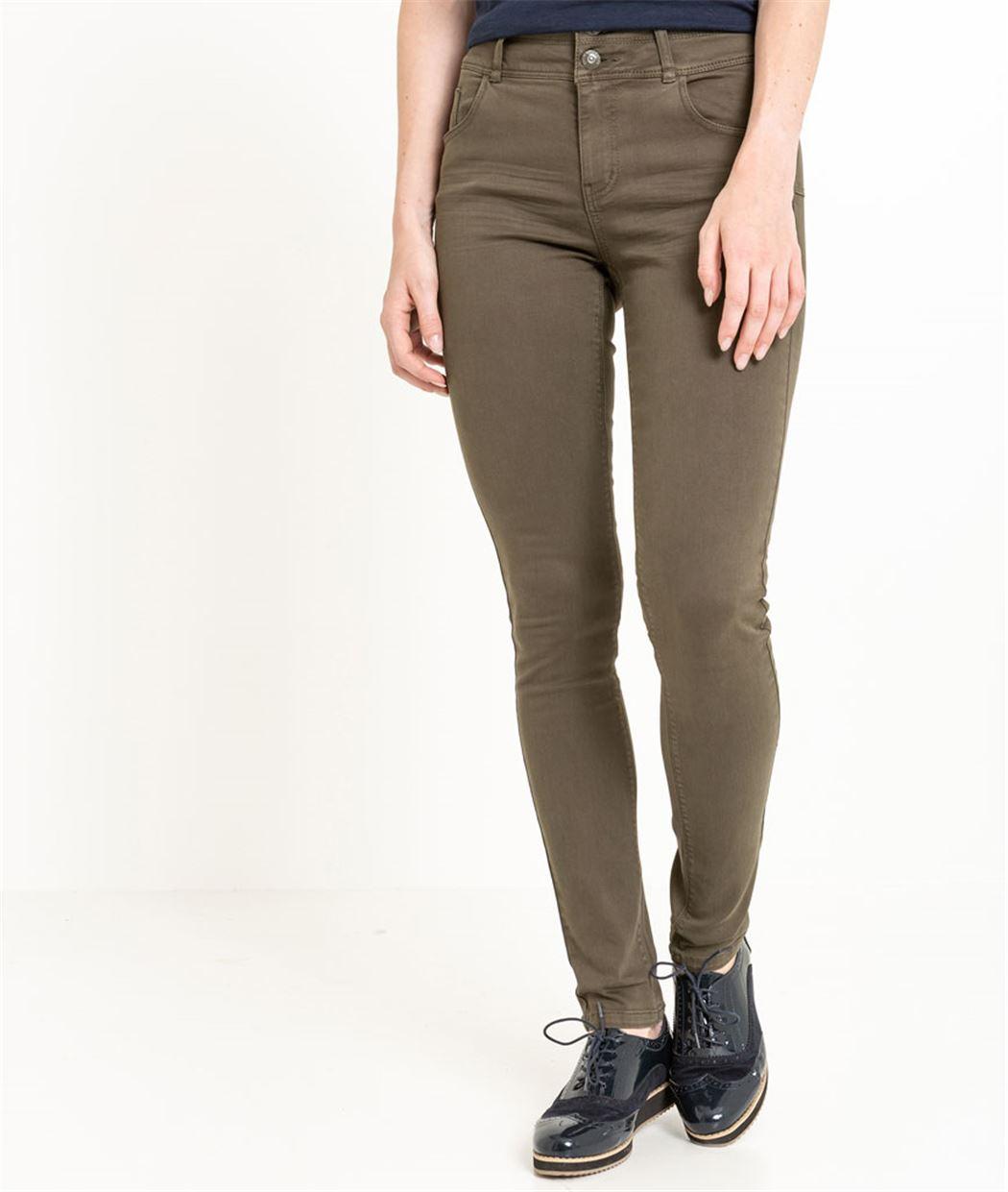 pantalon femme slim taille haute kaki grain de malice. Black Bedroom Furniture Sets. Home Design Ideas