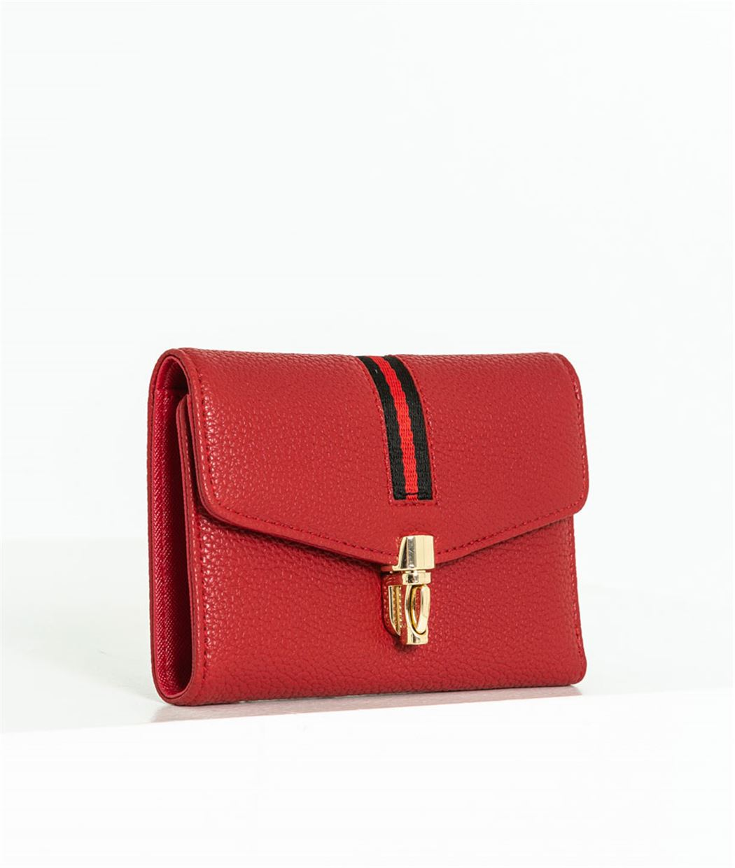 Portefeuille femme rouge sport chic ROUGE