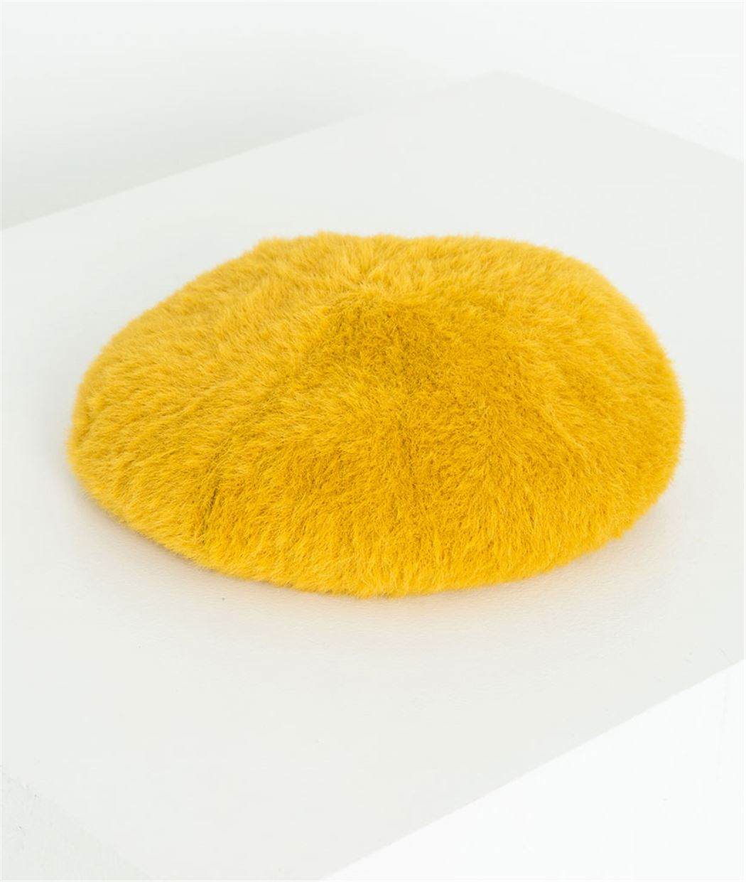 Béret femme jaune doux JAUNE
