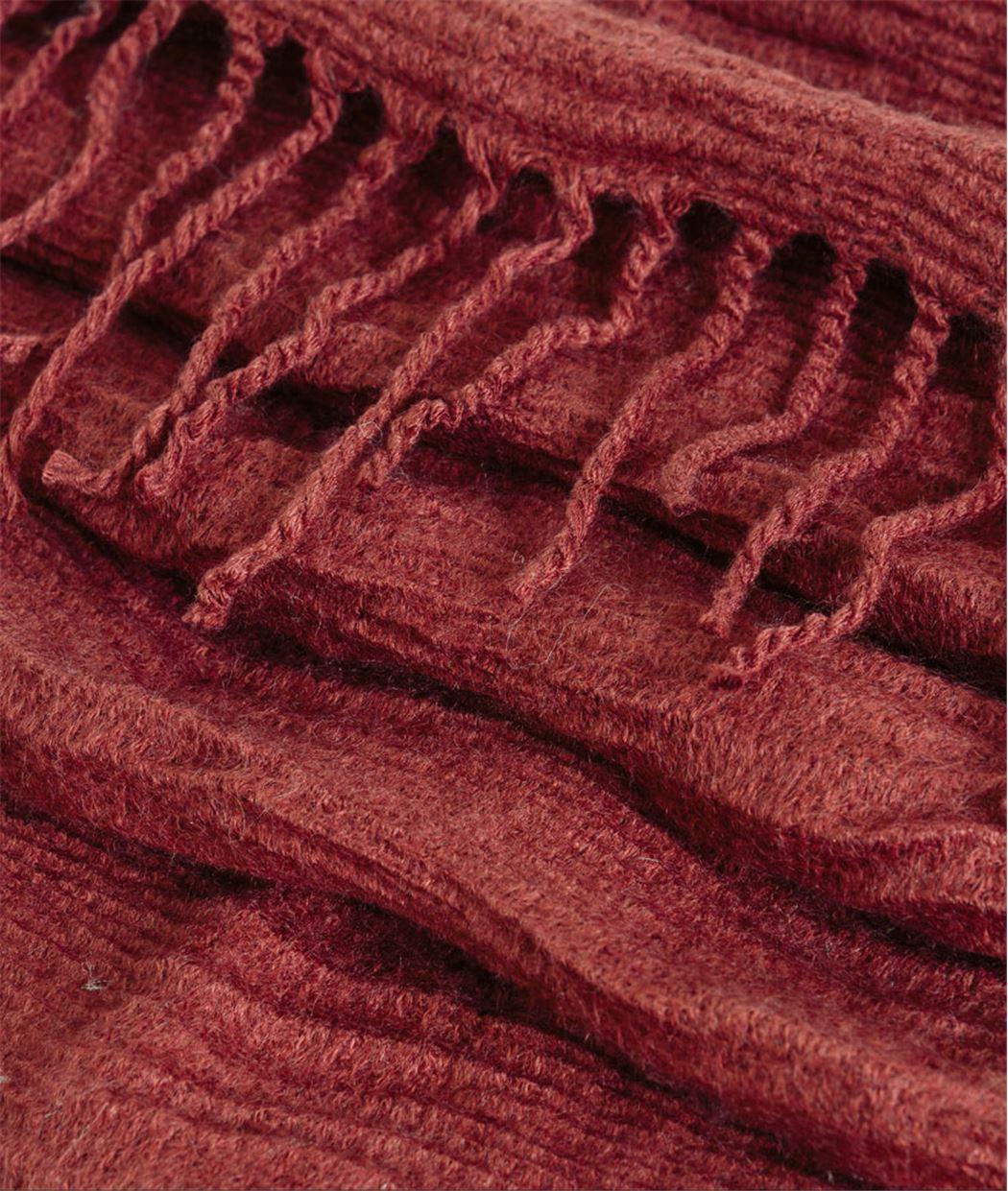 Echarpe femme uni couleur brique ROUGE - Grain de Malice 190c8faf56b