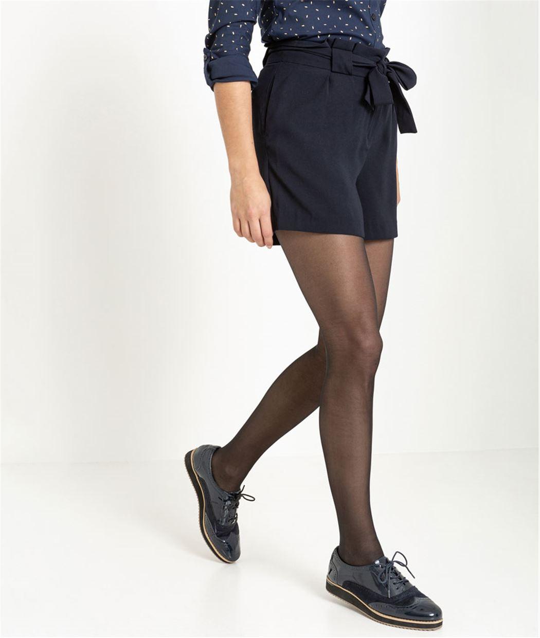 Short femme paperbag marine MARINE