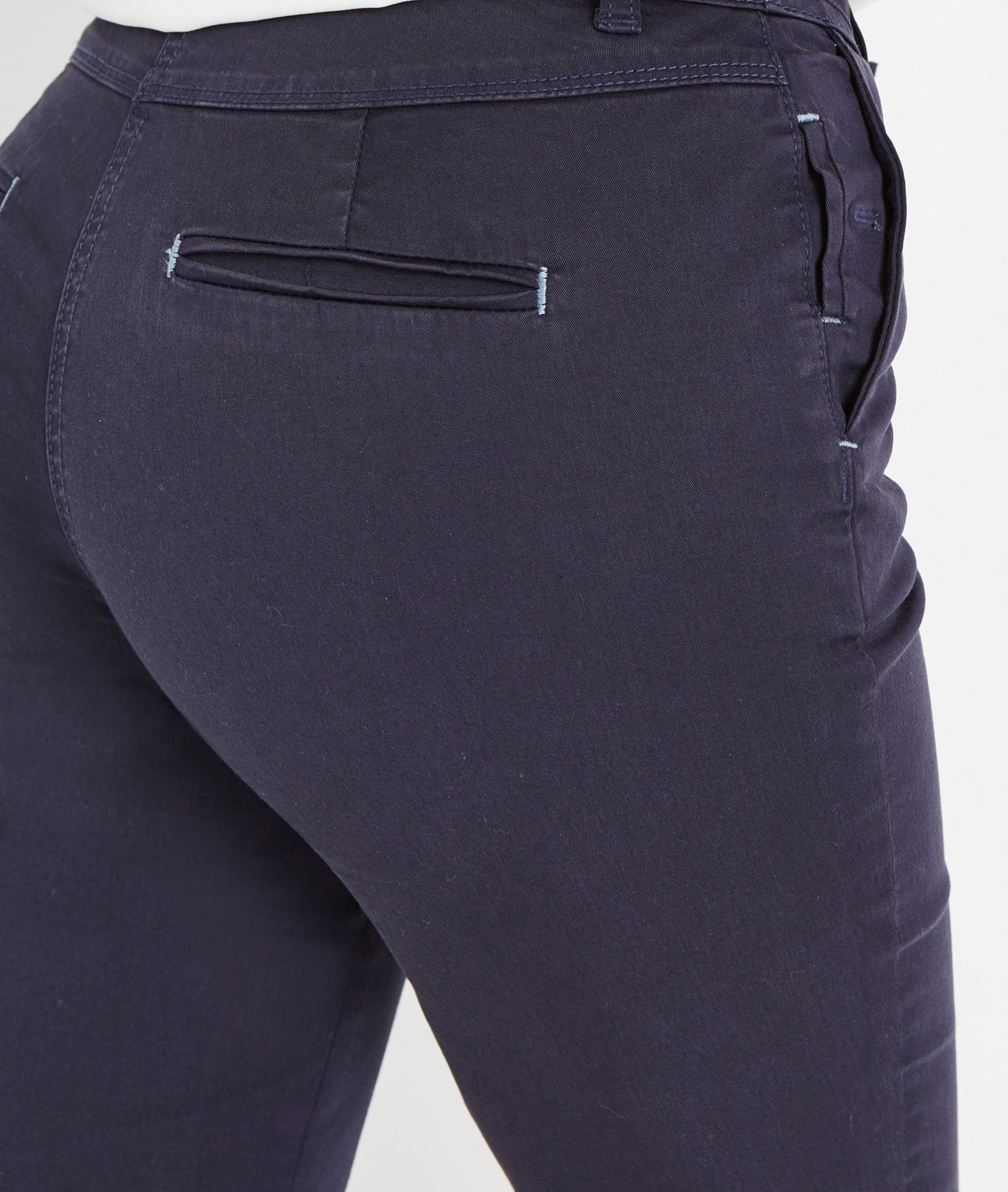 Pantalon femme chino avec ceinture MARINE - Grain de Malice 37a0149b635