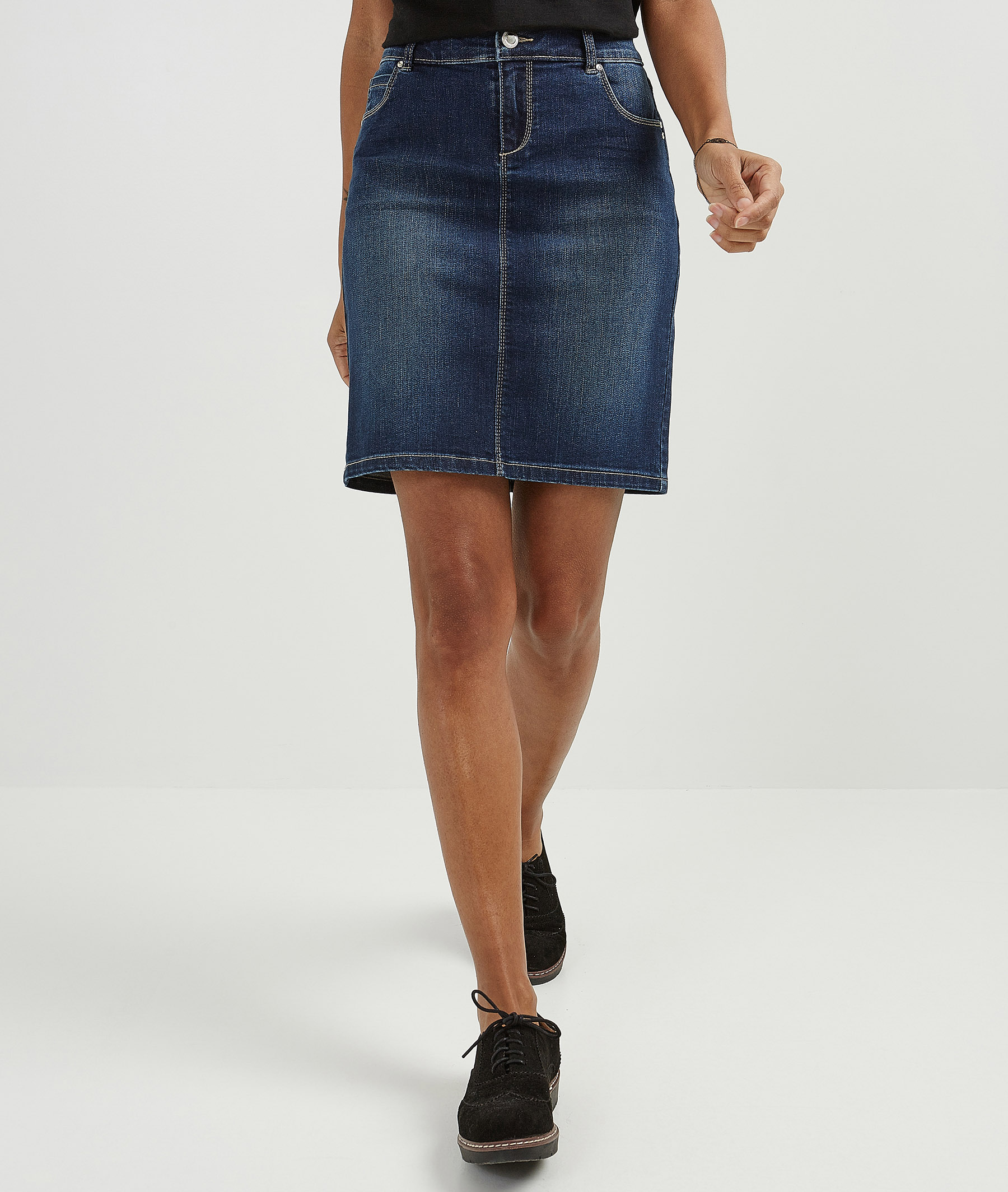 Jupe femme en jean délavée RINSE