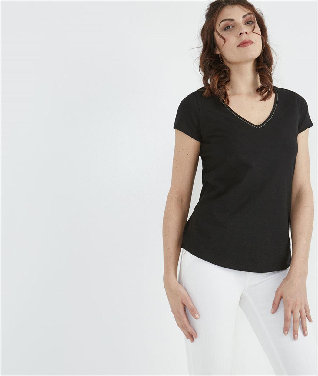 T-shirt femme basique NOIR