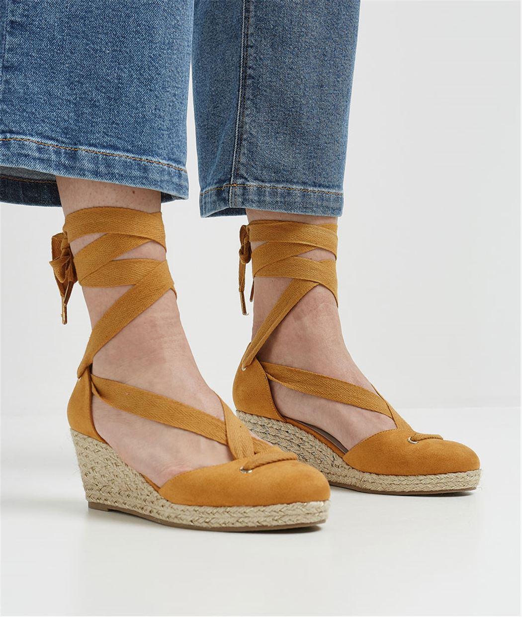 Chaussures femme compensées JAUNE