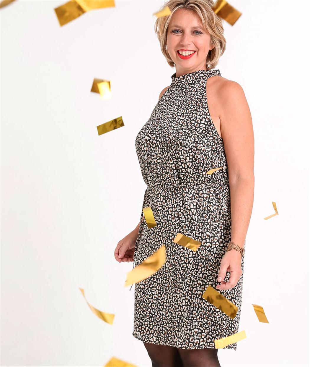 Robe femme imprimée léopard PEAU DE BETE