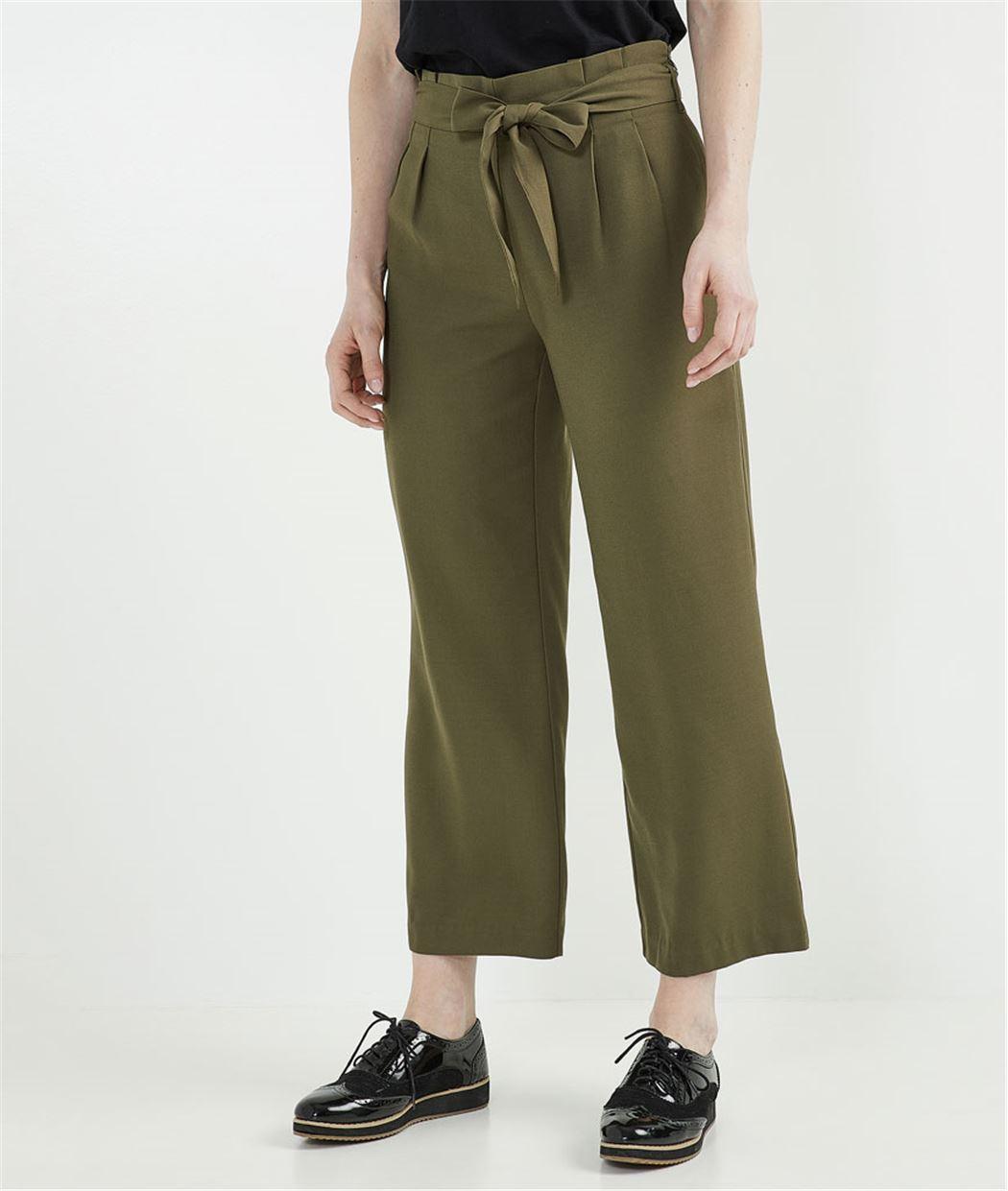 Pantalon paper bag KAKI