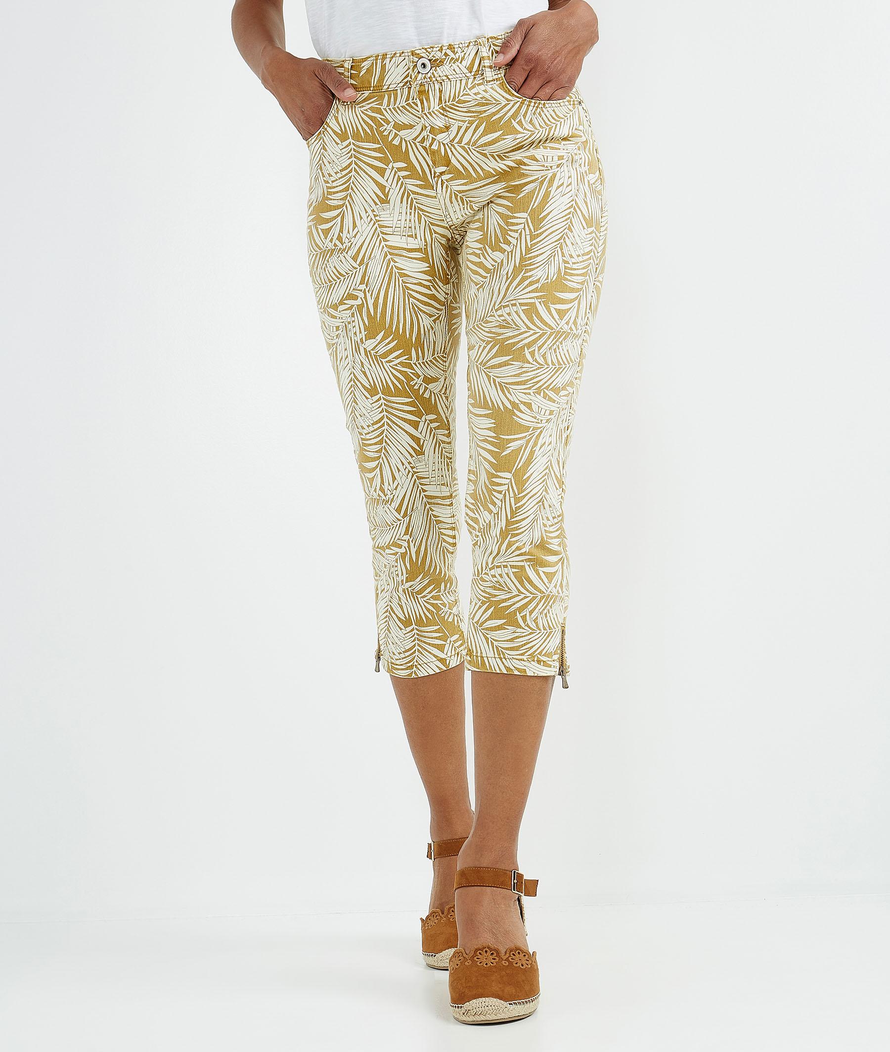 Corsaire femme de couleur avec ceinture CAMEL