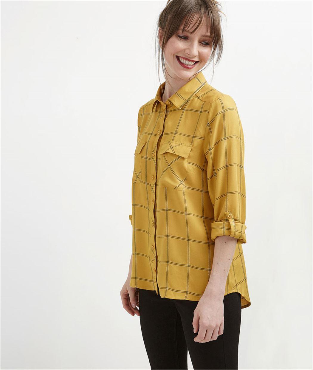 Chemise femme fluide à carreaux SAFRAN