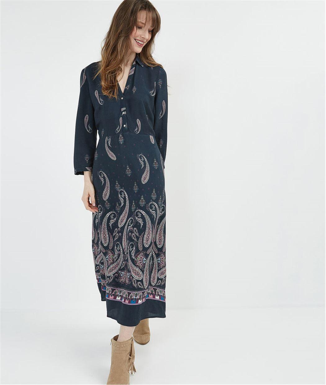 Robe femme longue et imprimée MARINE