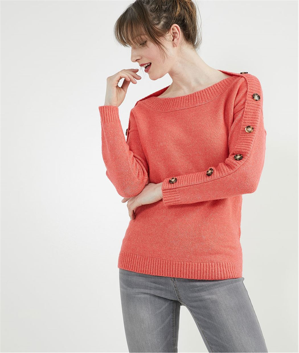 Pull boutonné CORAIL