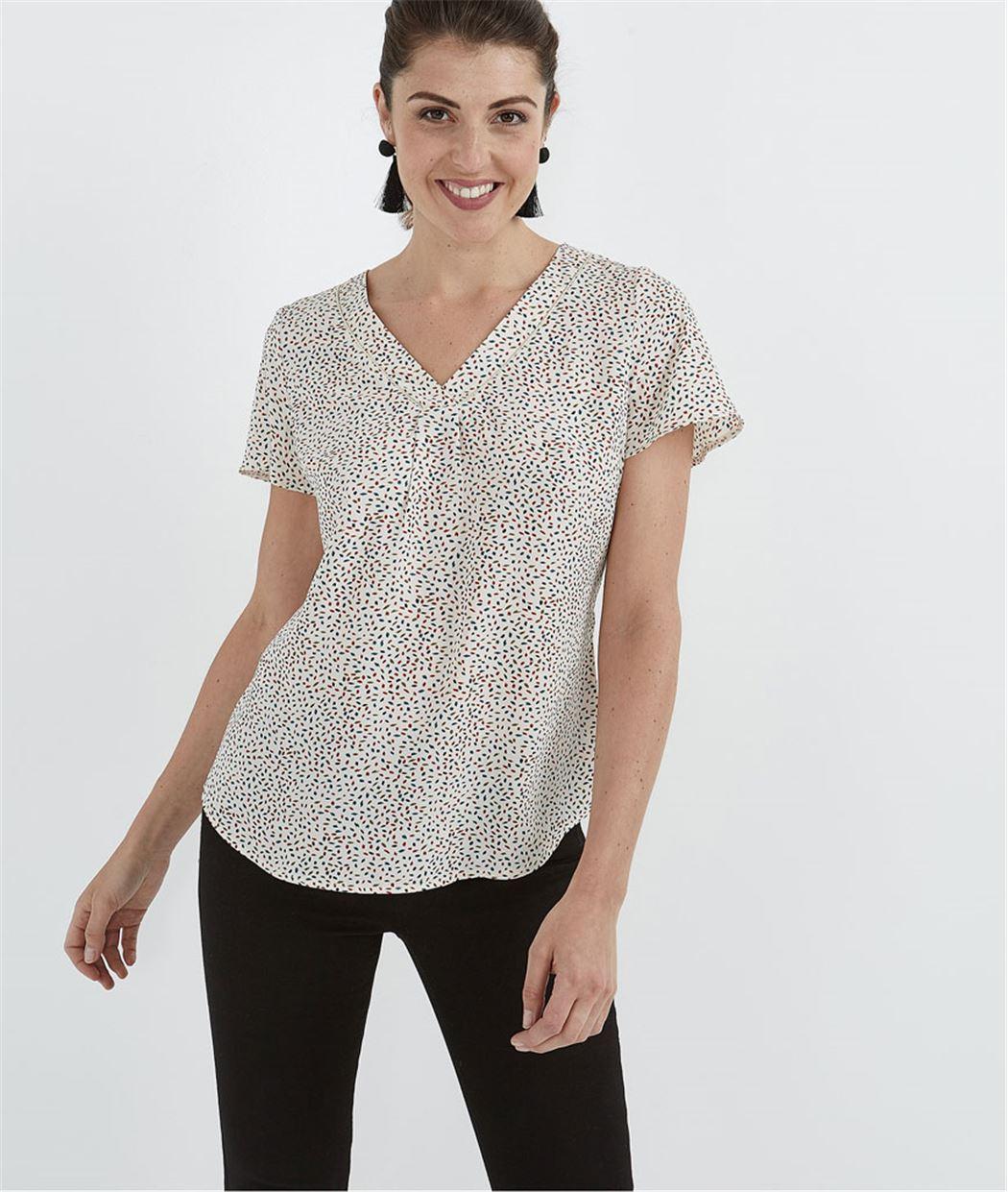Blouse femme imprimé minimaliste IMPRIME