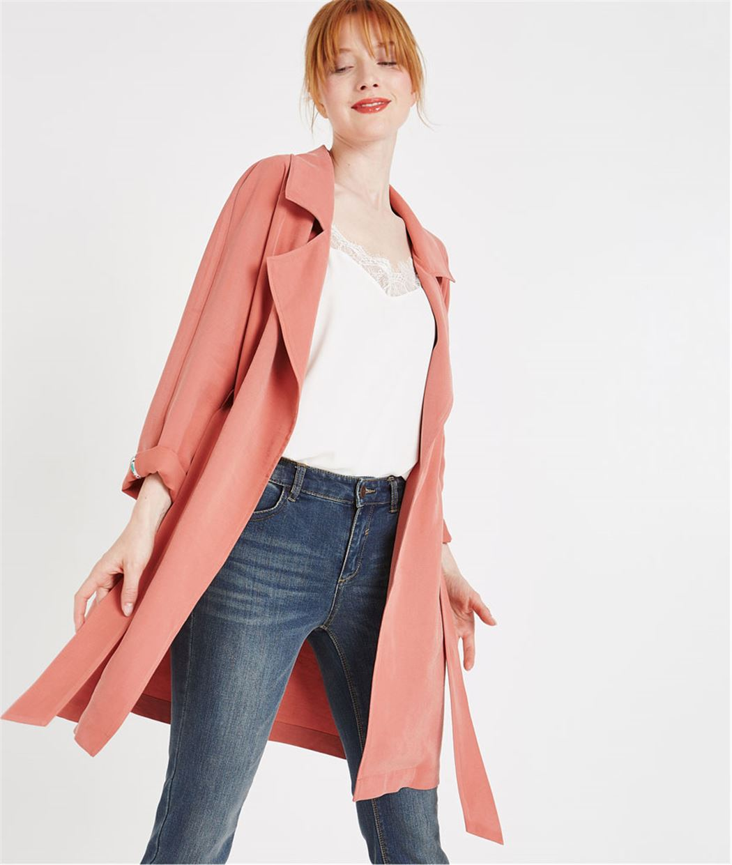 Trench fluide rose BLUSH