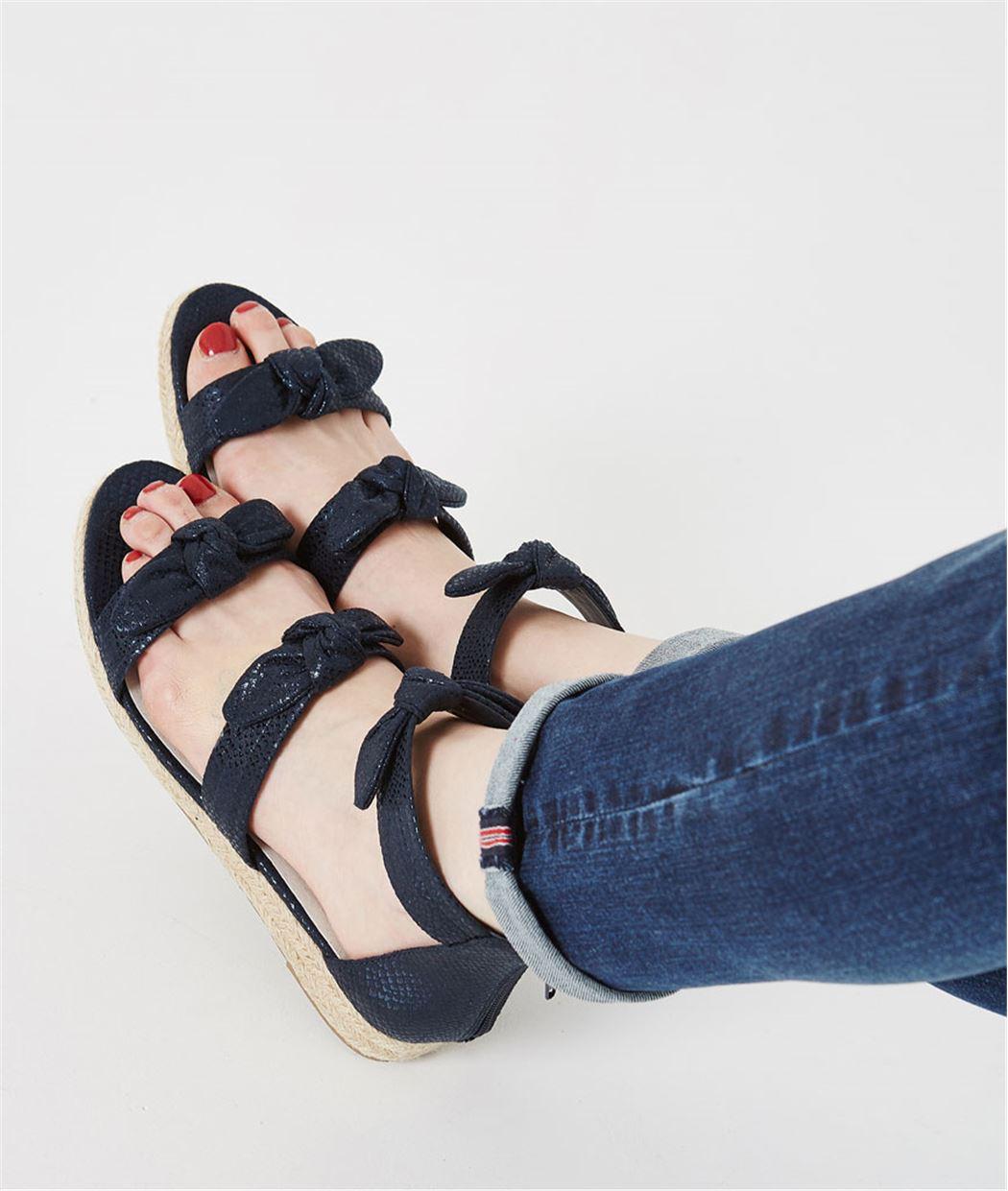 Sandales marine avec noeuds MARINE