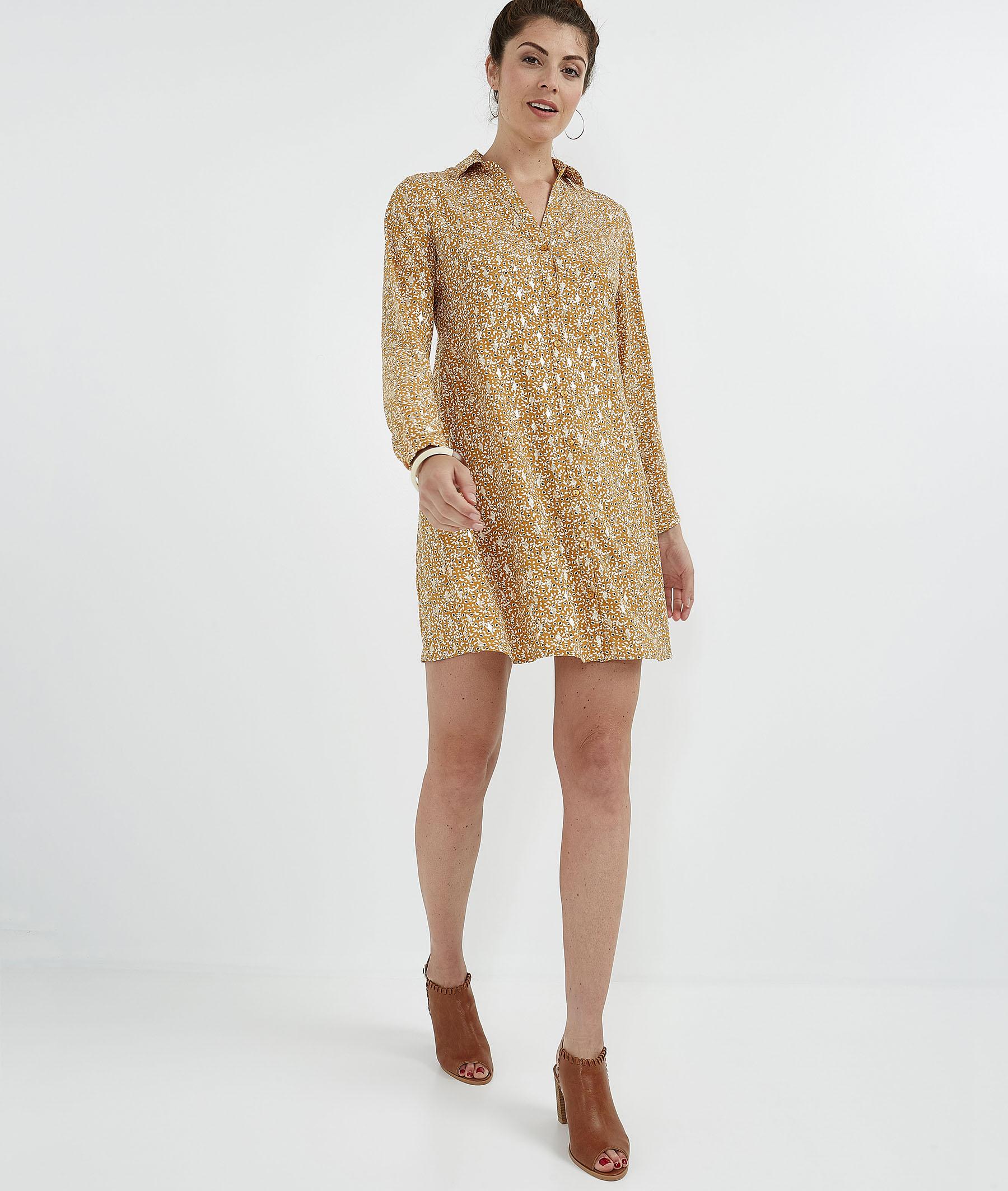 Robe chemise imprimée SAFRAN