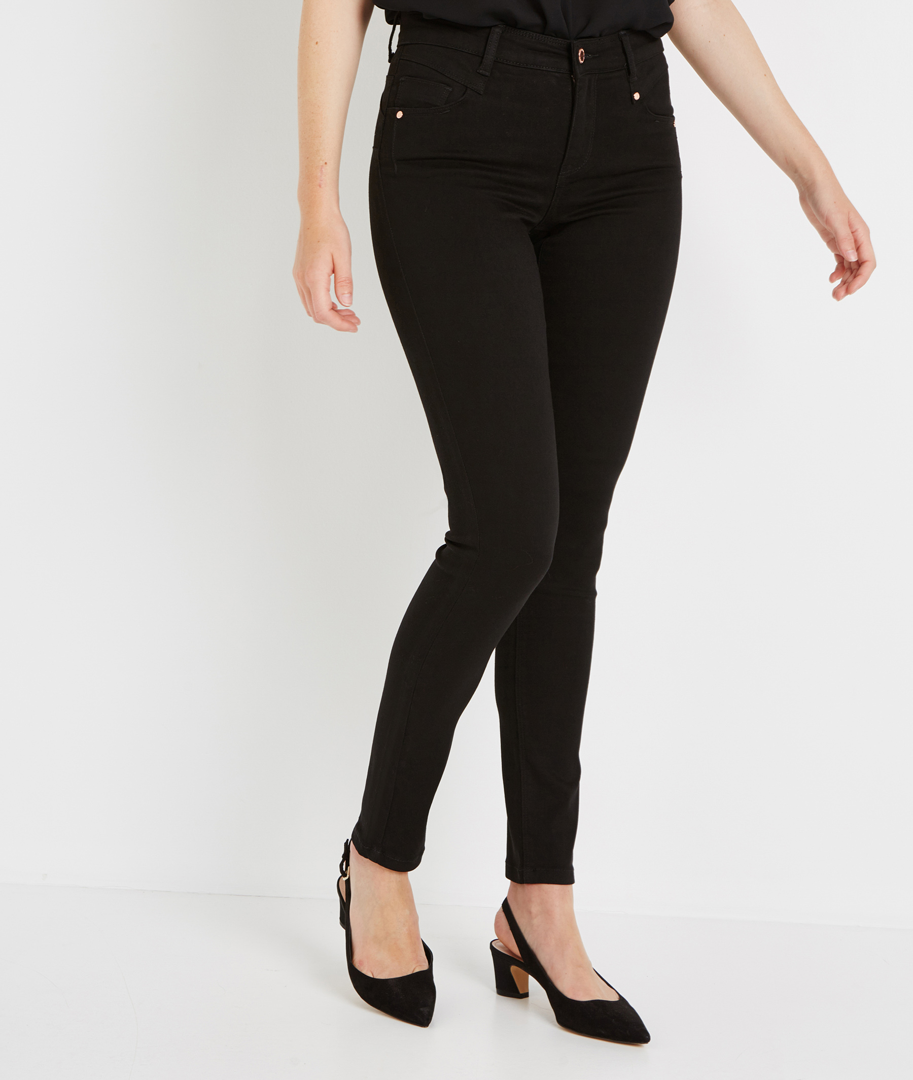 Jean slim push up BLACK