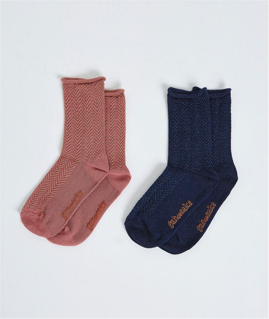 Lot de 2 paires de chausettes BLUSH