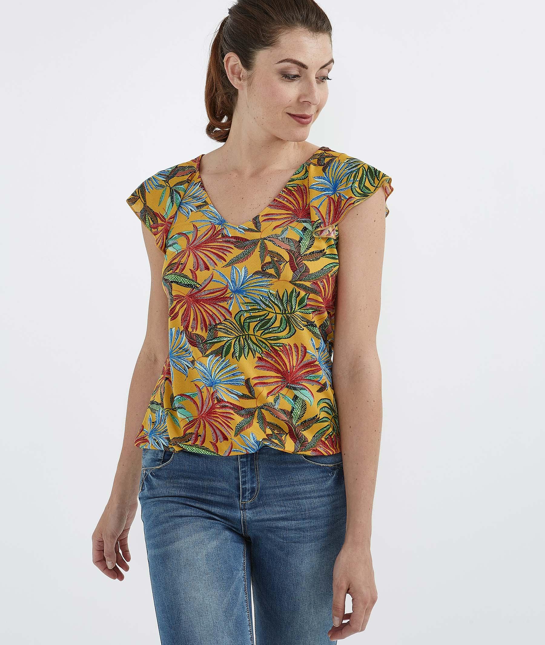 T-shirt feuillages colorés SAFRAN
