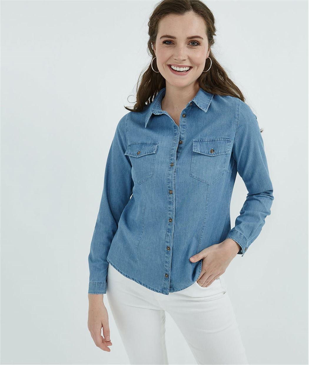 Chemise femme en jean 100% coton DENIM