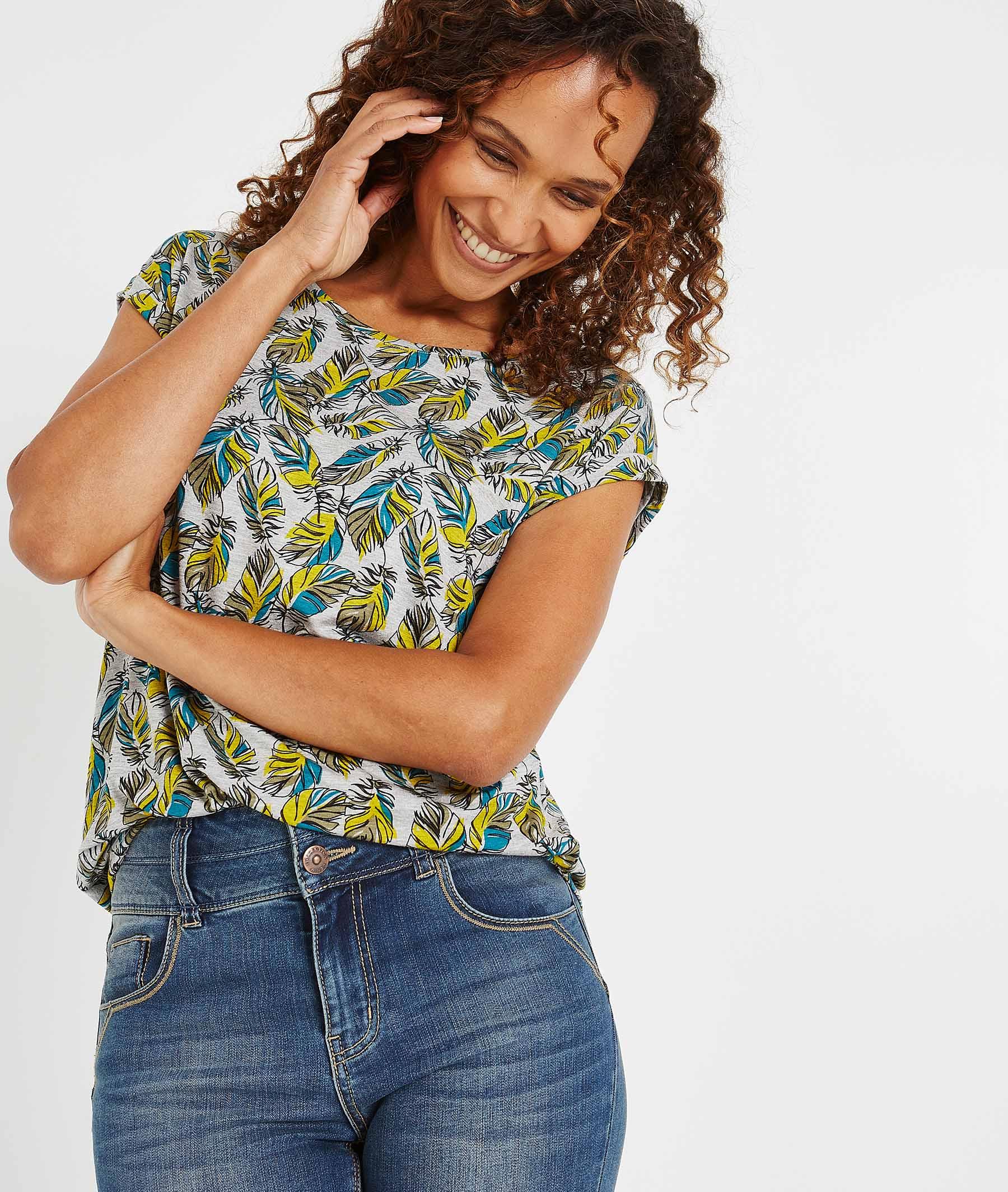 T-shirt à manches courtes imprimé KAKI