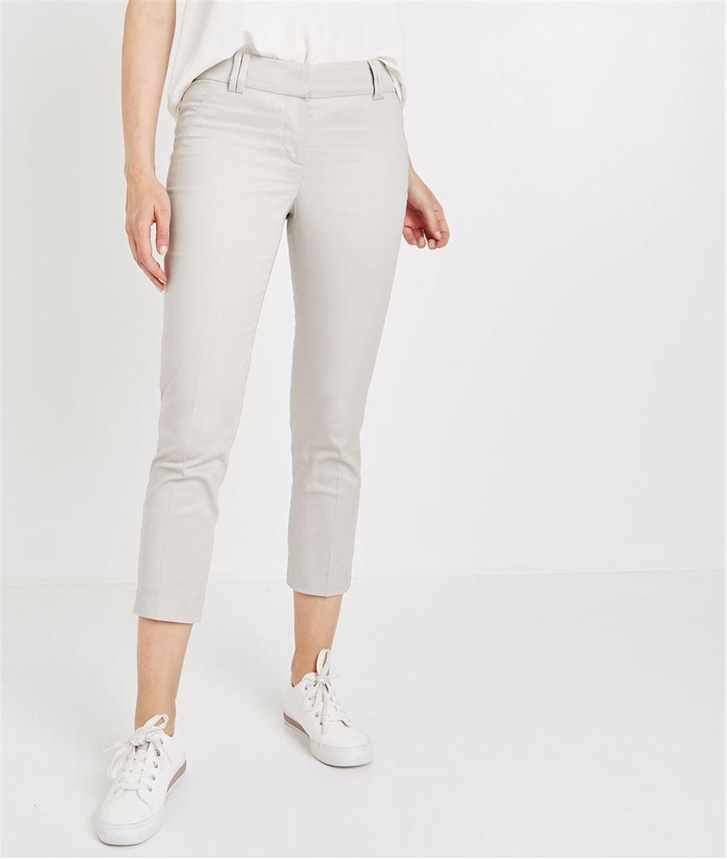 Pantalon 7/8ème en satin de coton GRIS