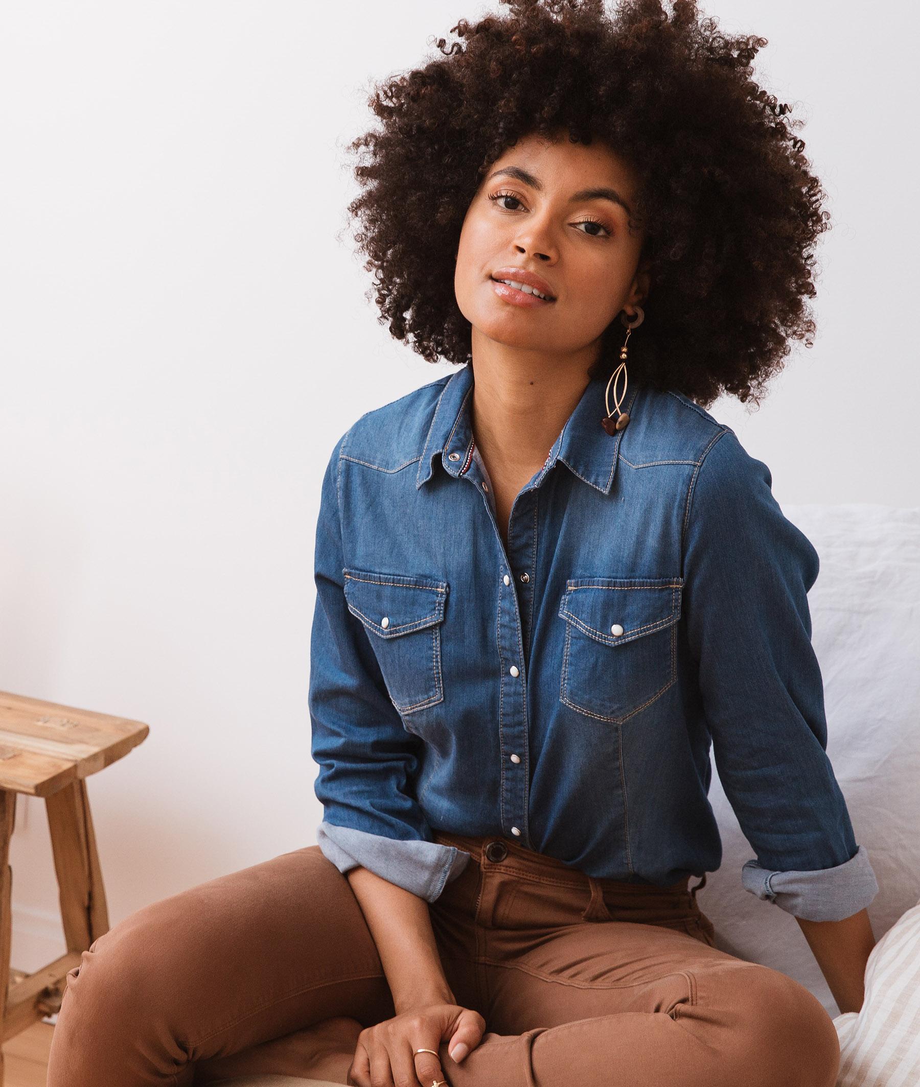 Chemise en jean boutonnée DENIM