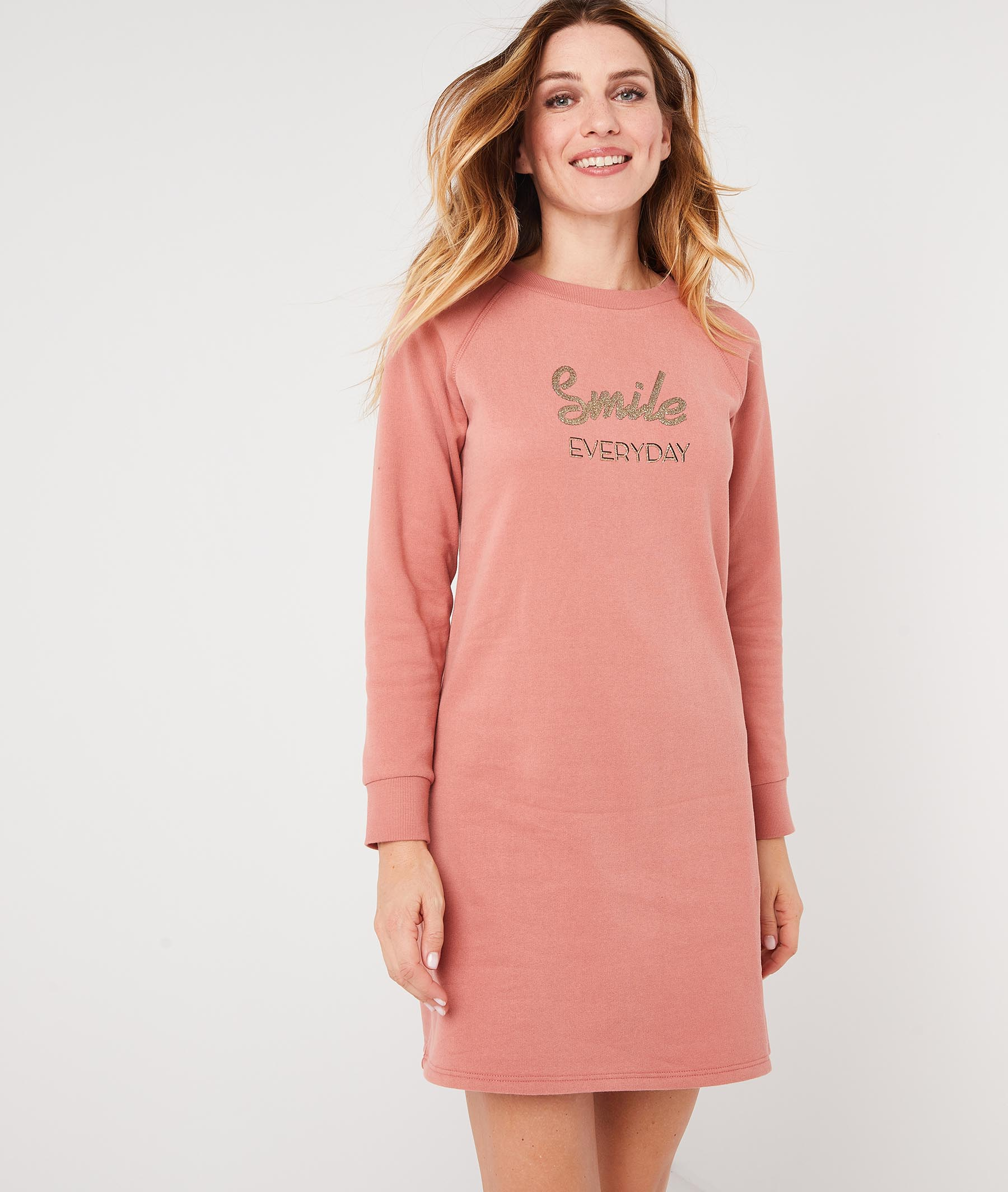 Robe sweat rose à message BLUSH