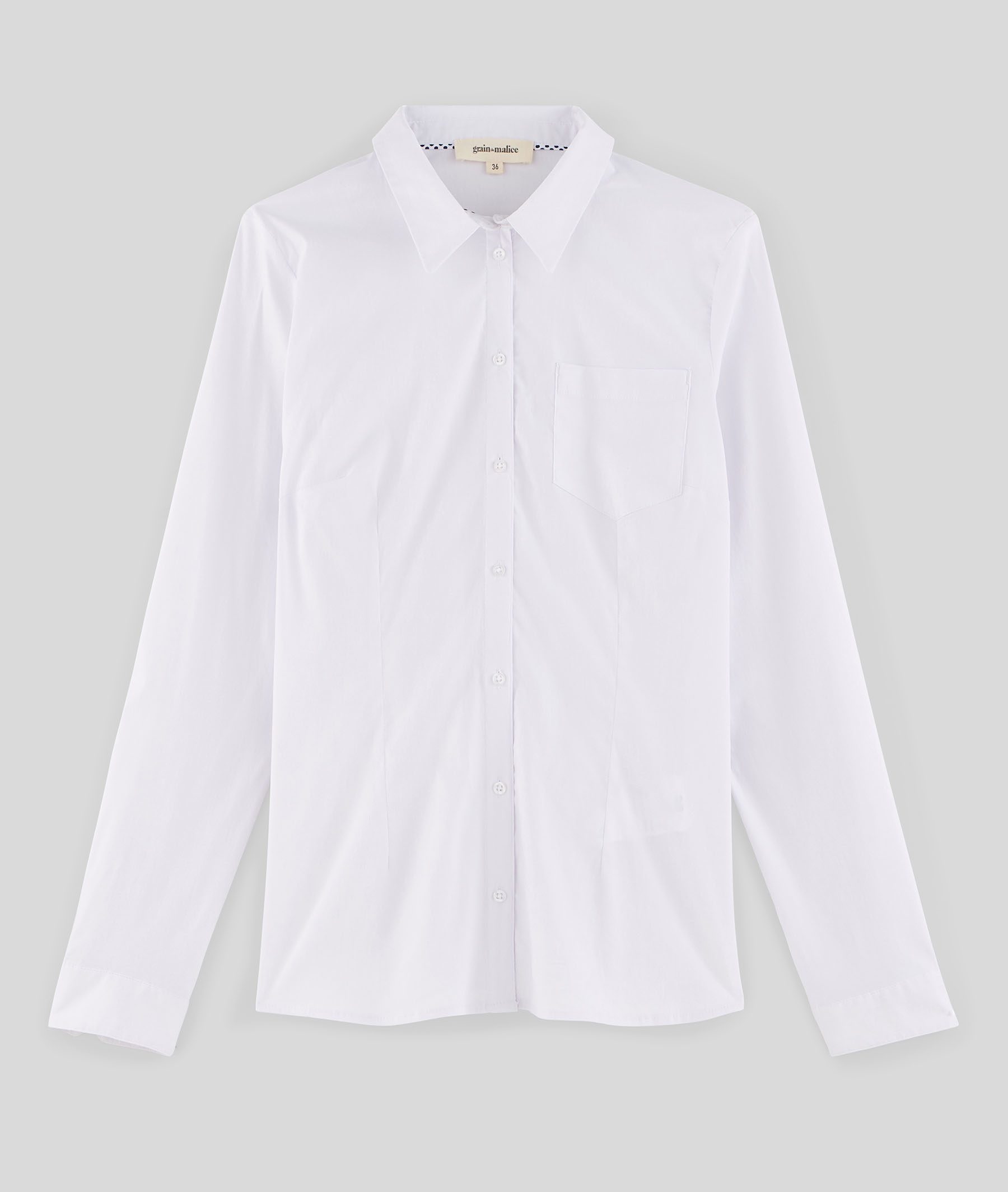 Chemise blanche manches longues ECRU