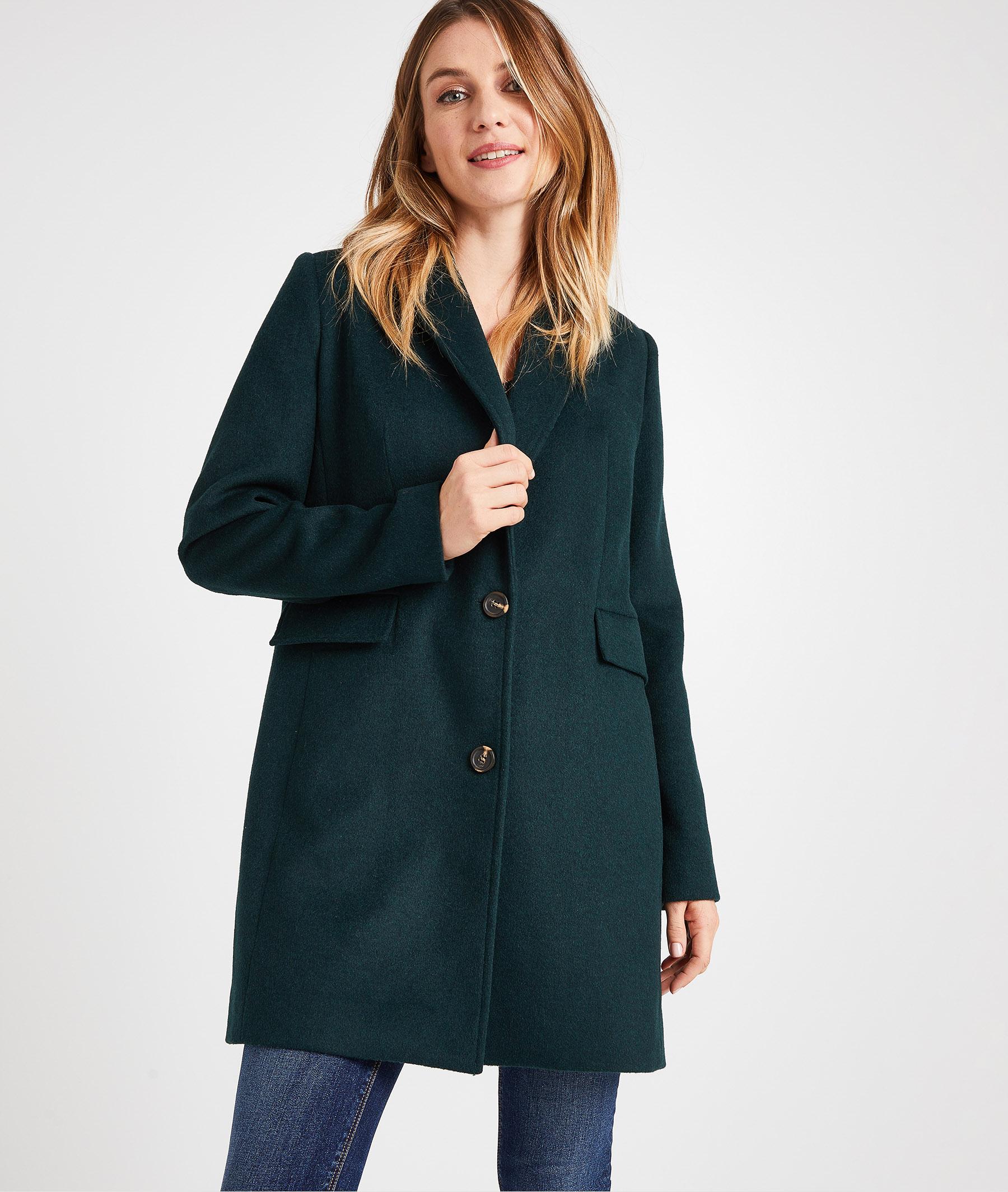 Manteau pardessus vert femme VERT