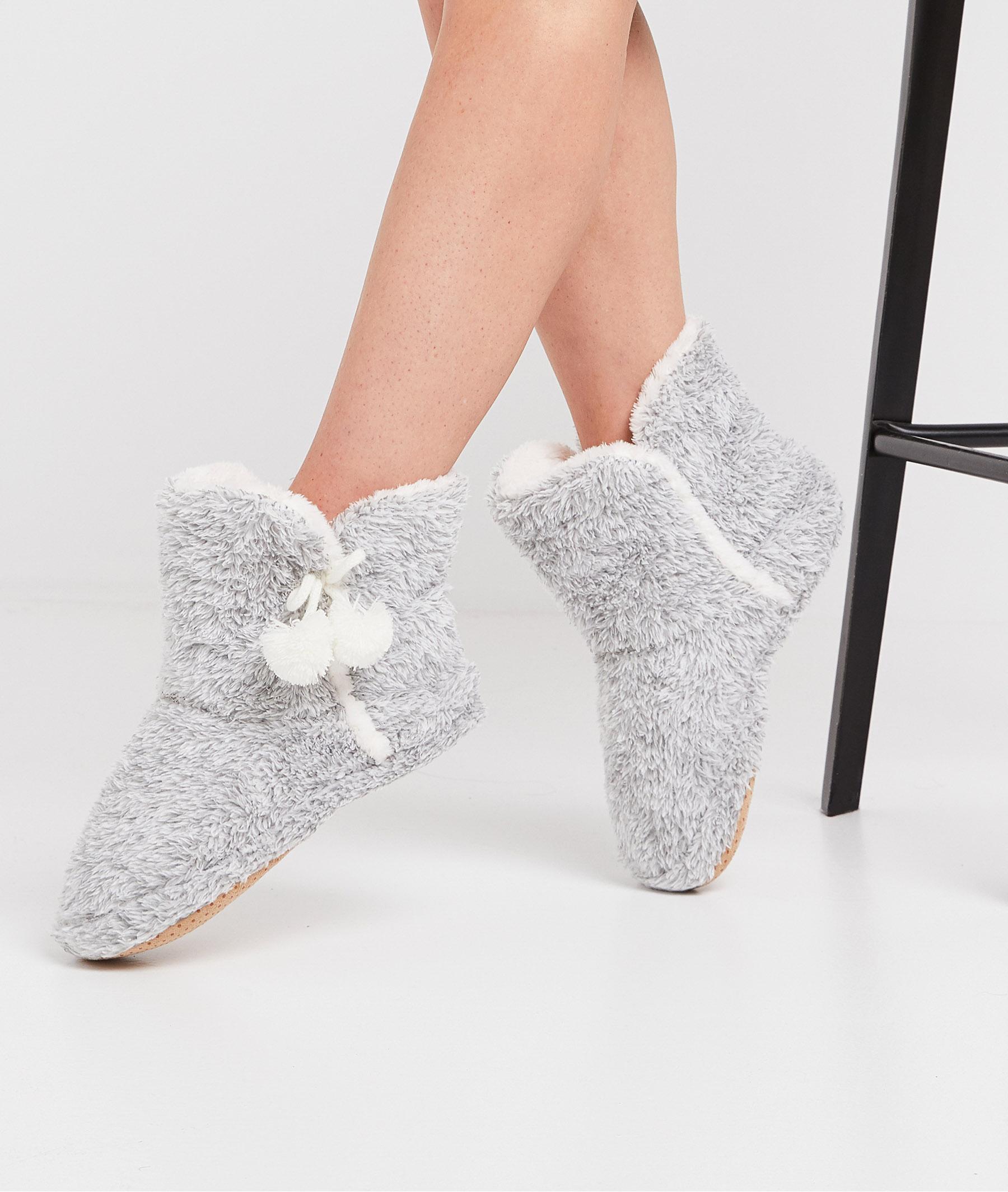Chaussons gris femme GRIS