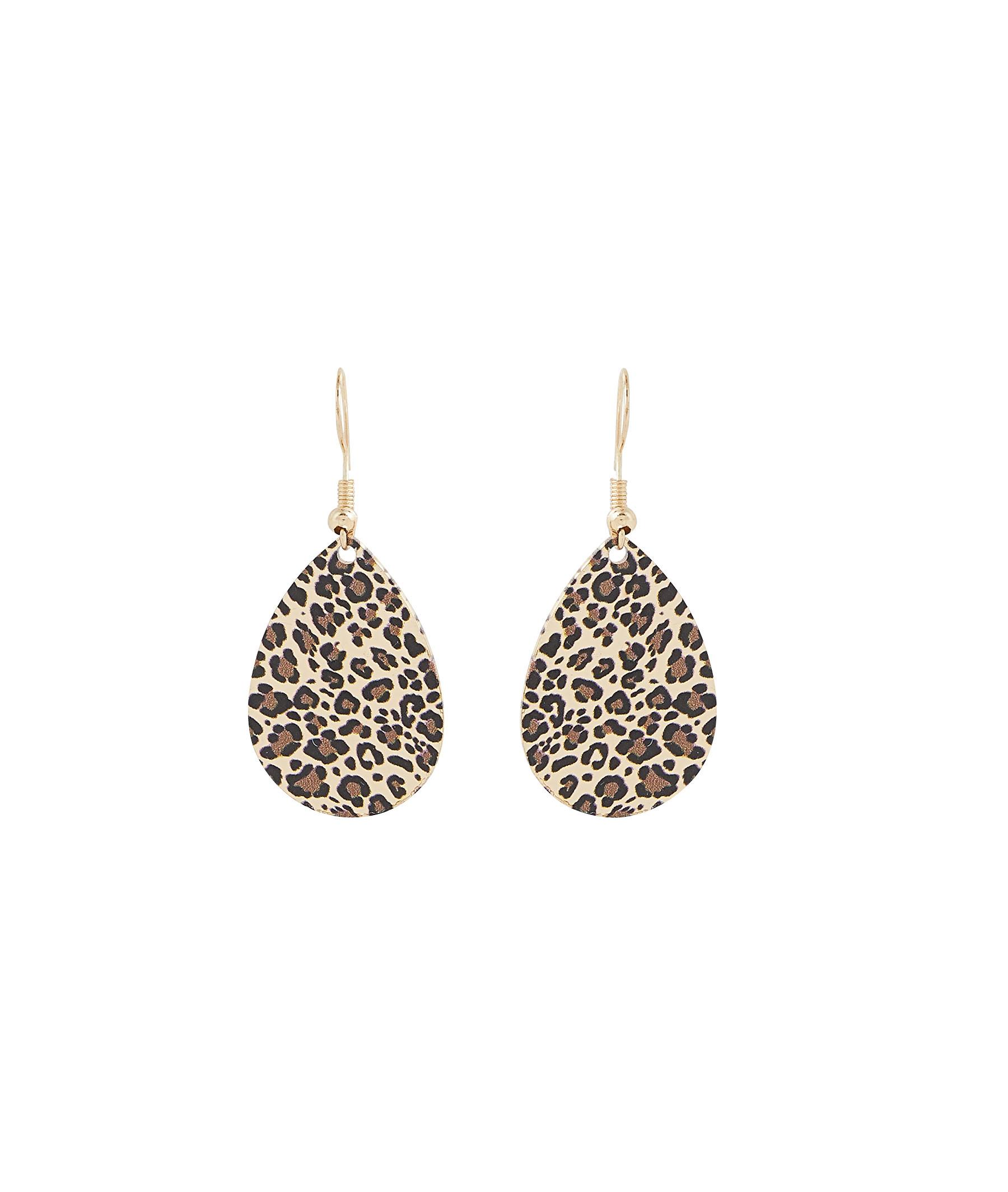 Boucles d'oreilles imprimé léopard 2 TONS