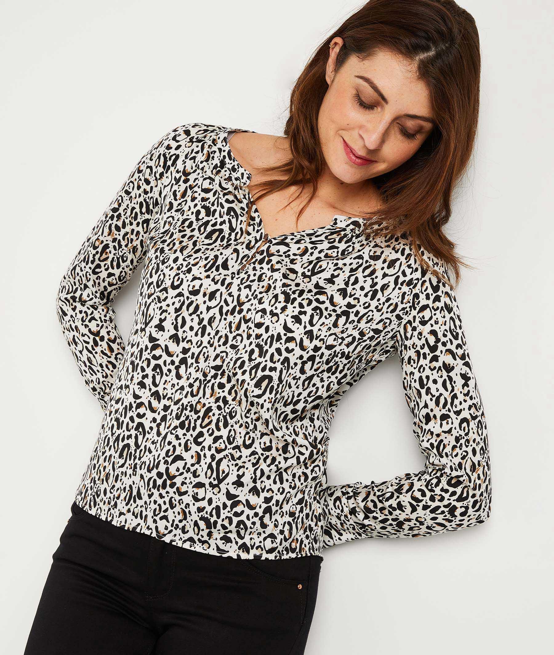 Blouse imprimé léopard femme IMPRIME