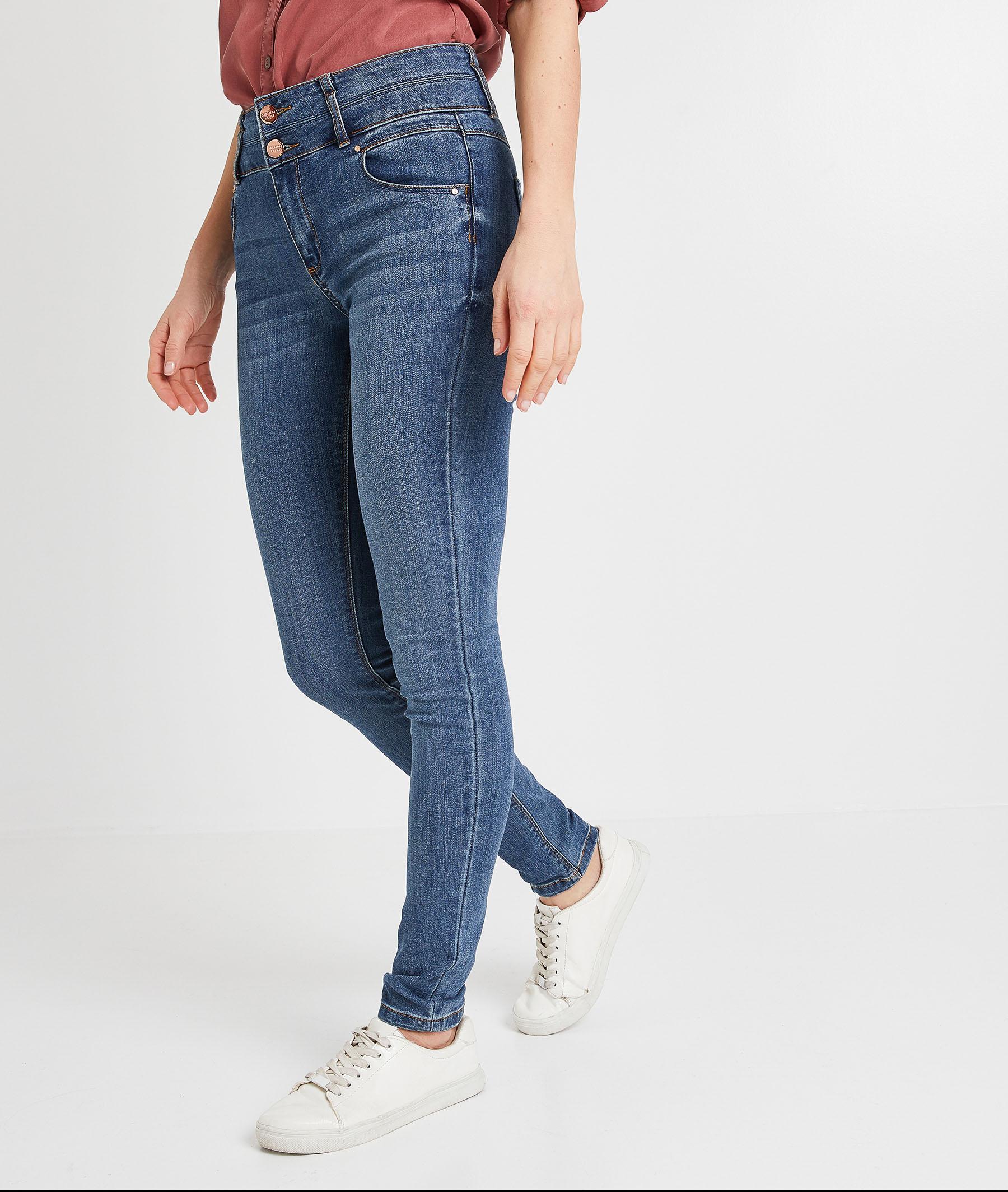 Jean slim taille haute femme STONE