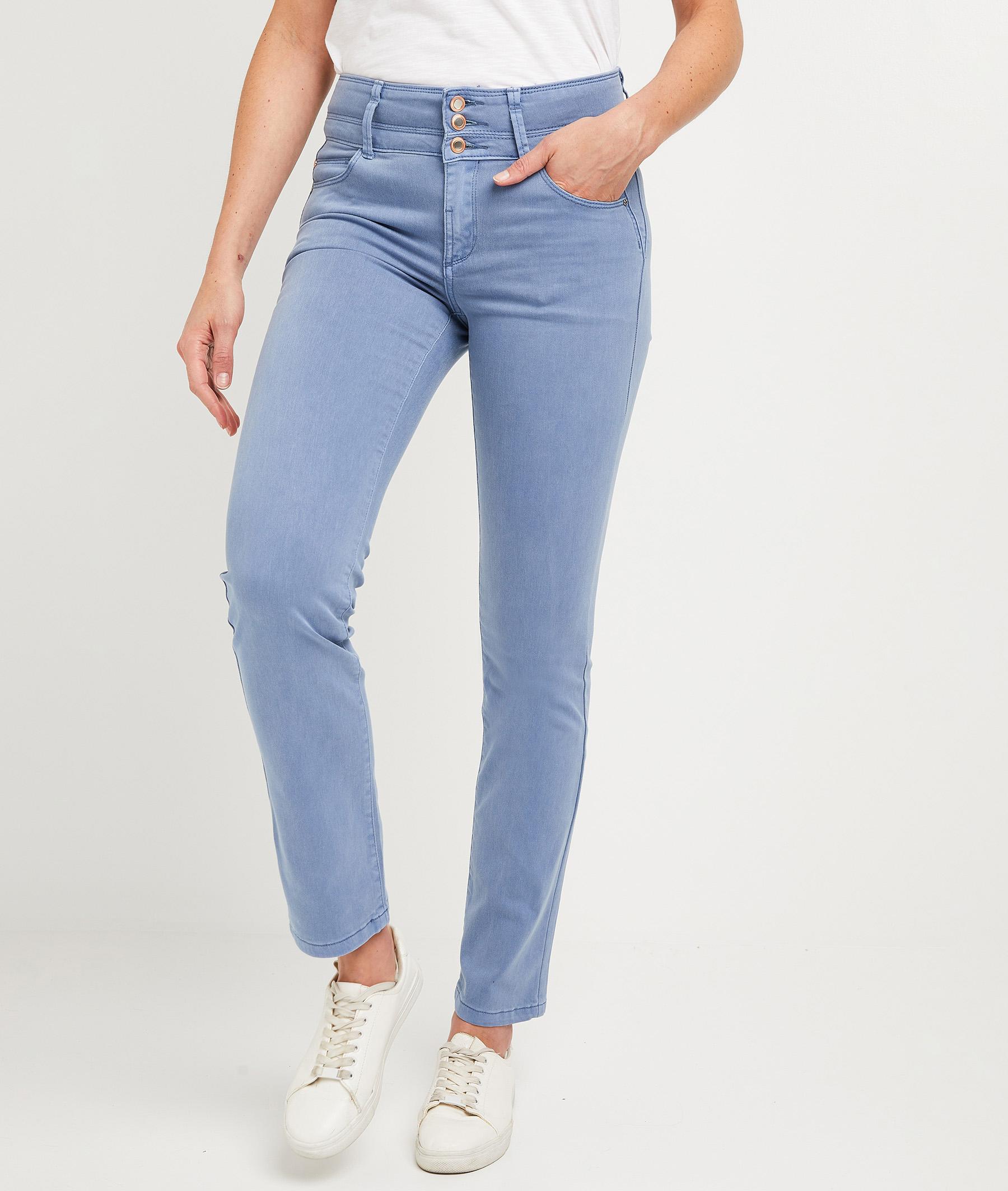 Pantalon droit taille haute uni femme ANEMONE