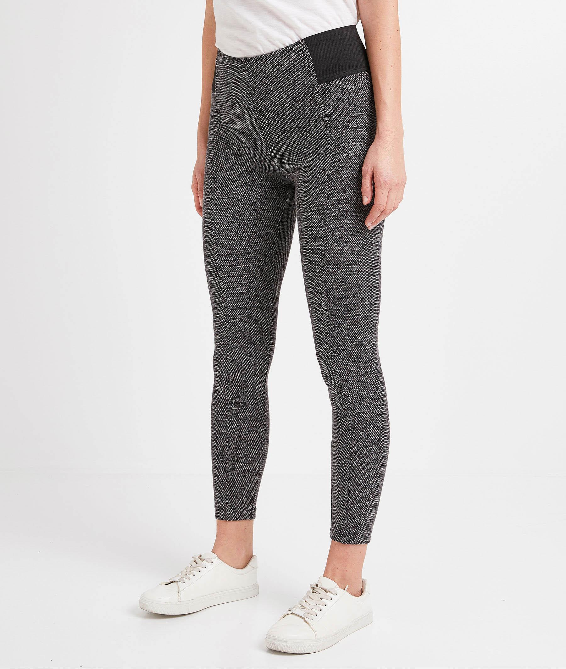 Legging jacquard gris femme GRIS