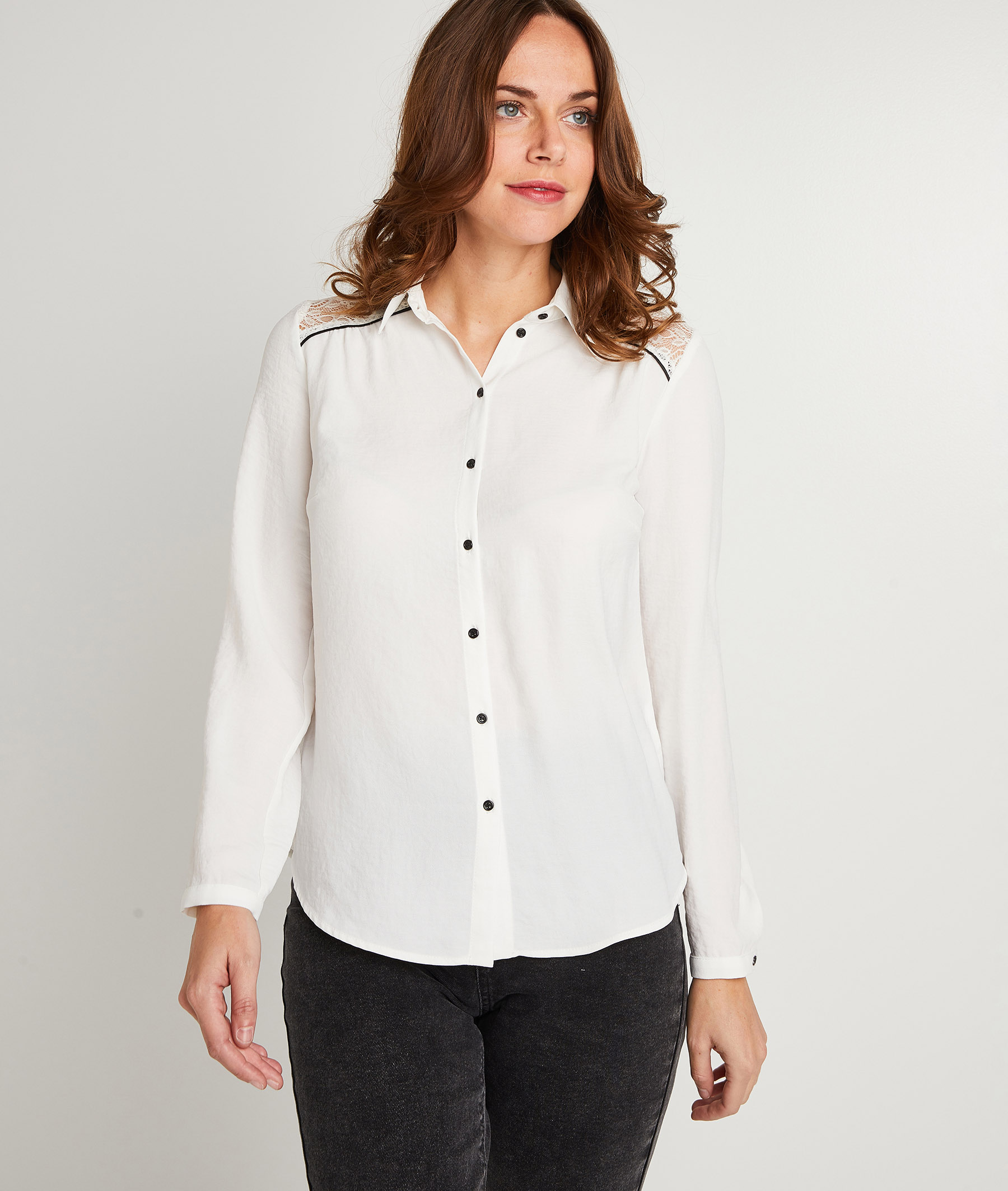 Chemise blanche femme ECRU