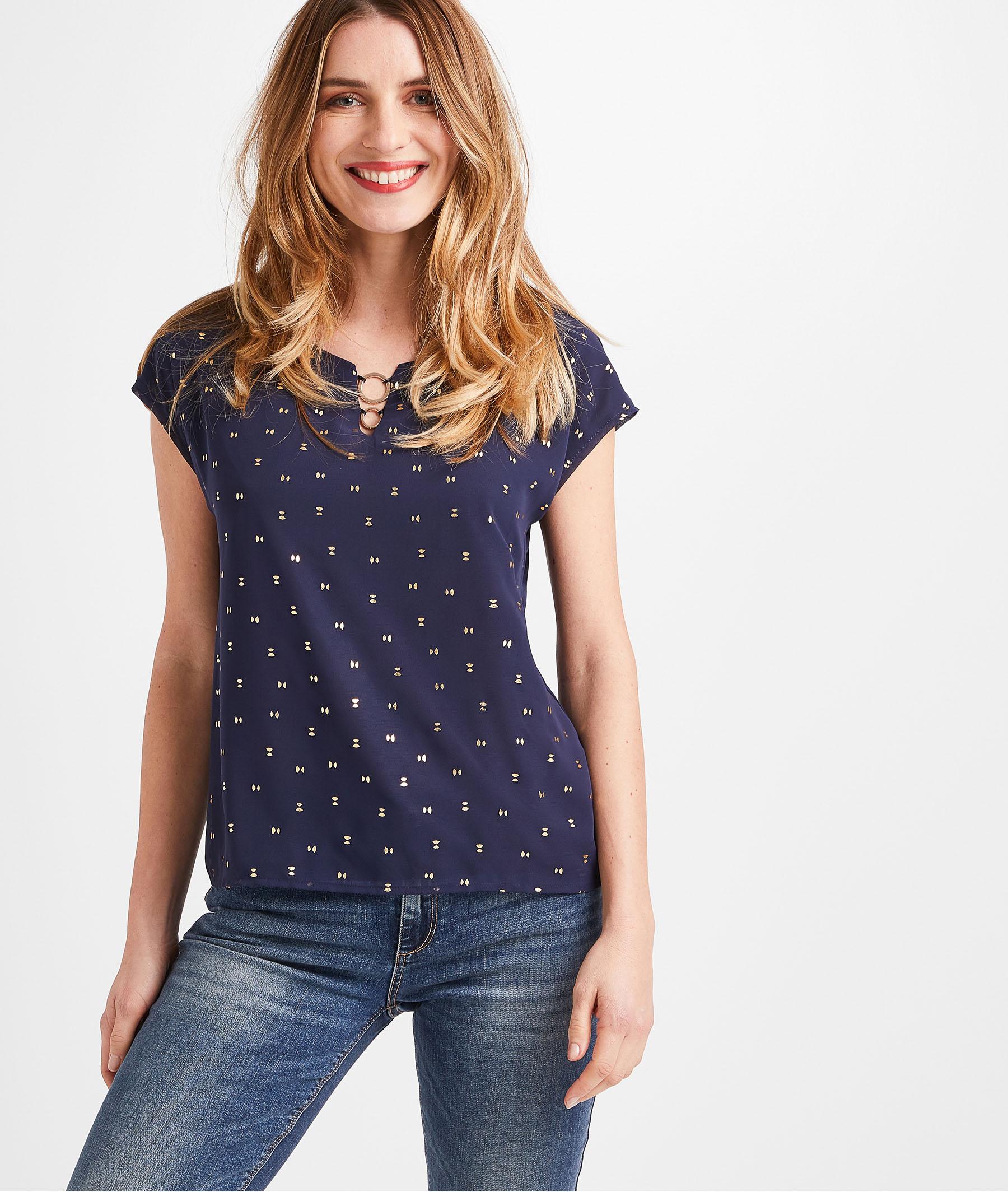 T-shirt imprimé marine femme MARINE