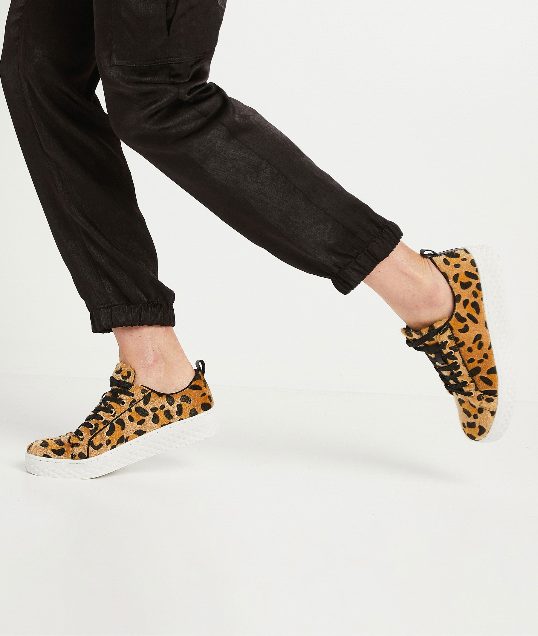 Baskets imitation léopard femme LEOPARD