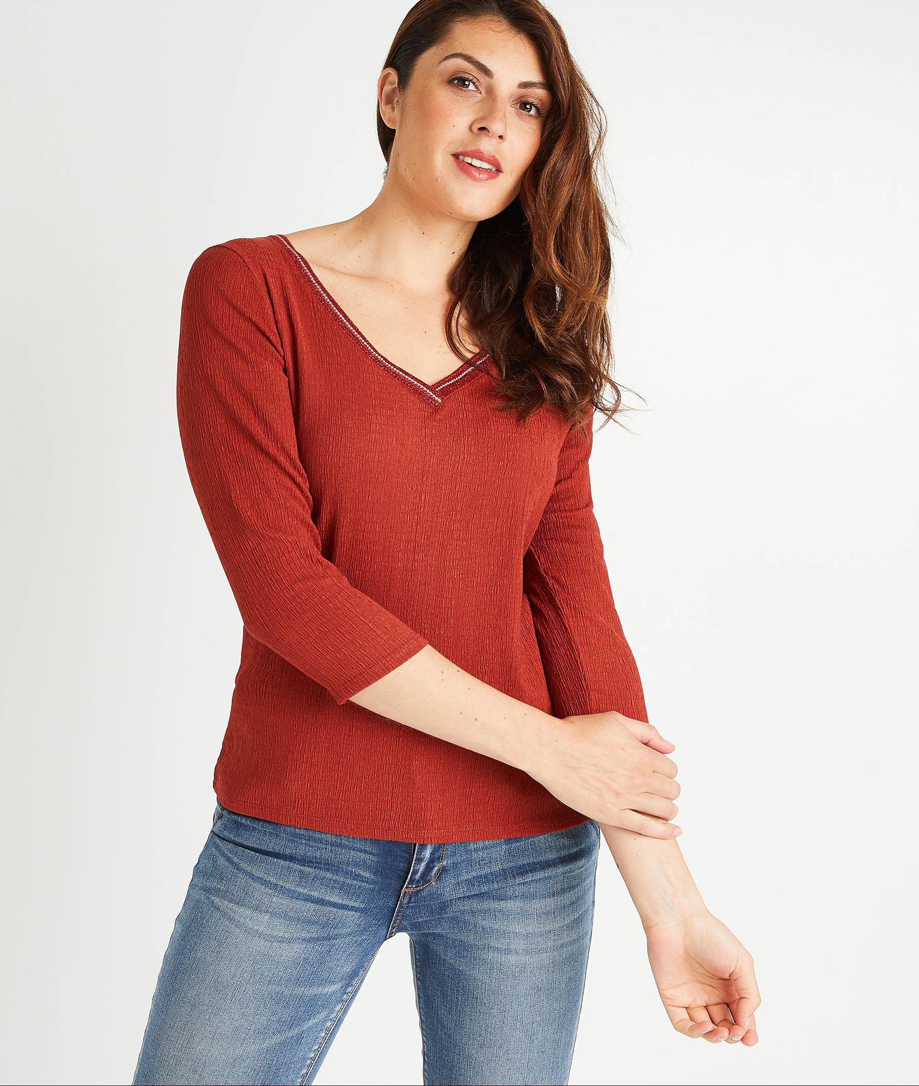 T-shirt terracotta femme TERRACOTTA