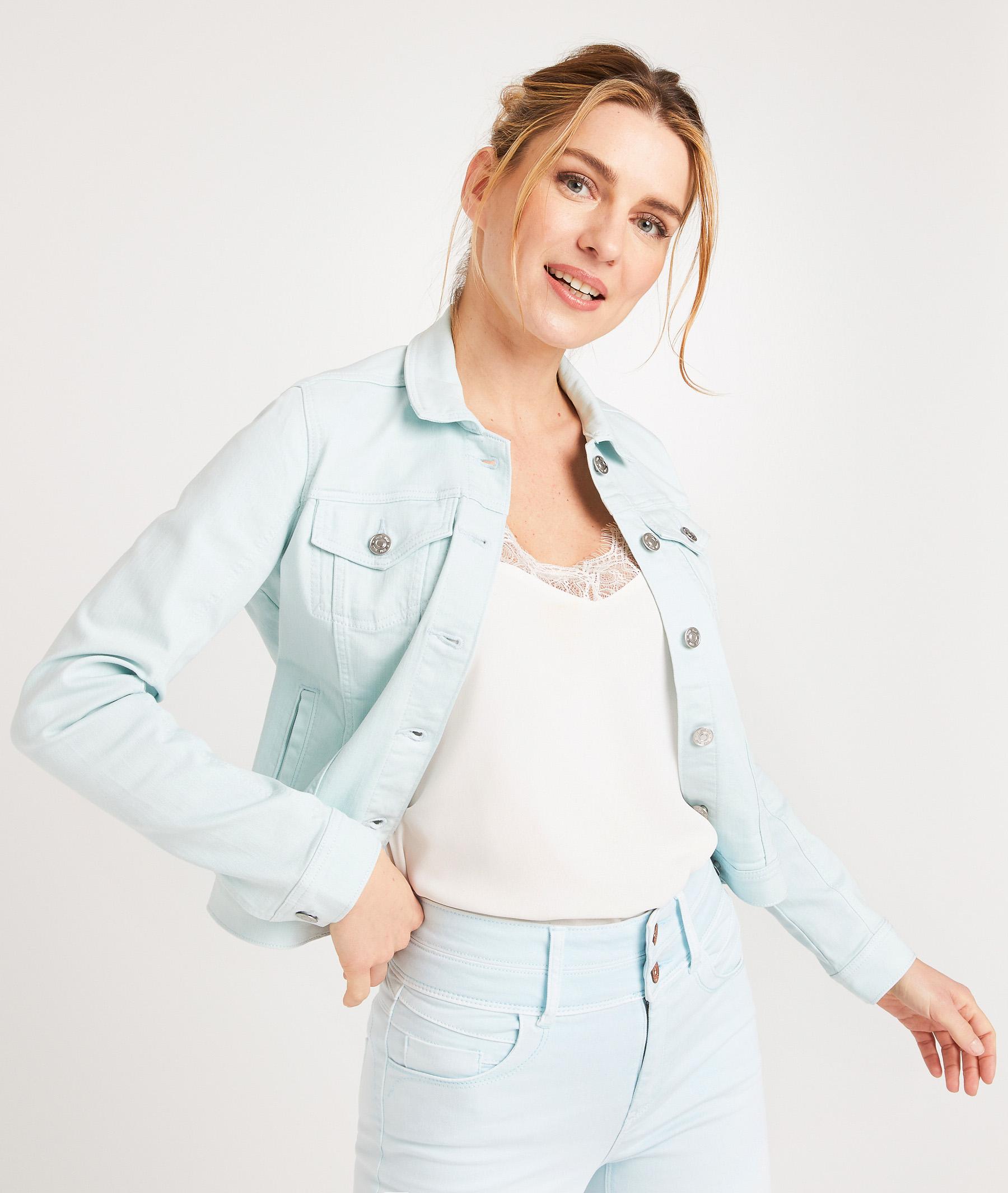 Veste en jean colorée femme LISERON
