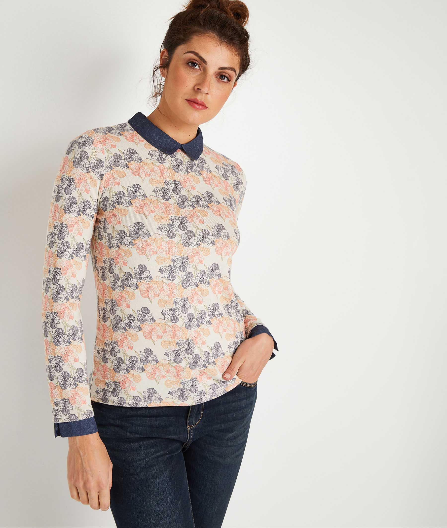 T-shirt imprimé femme BEIGE