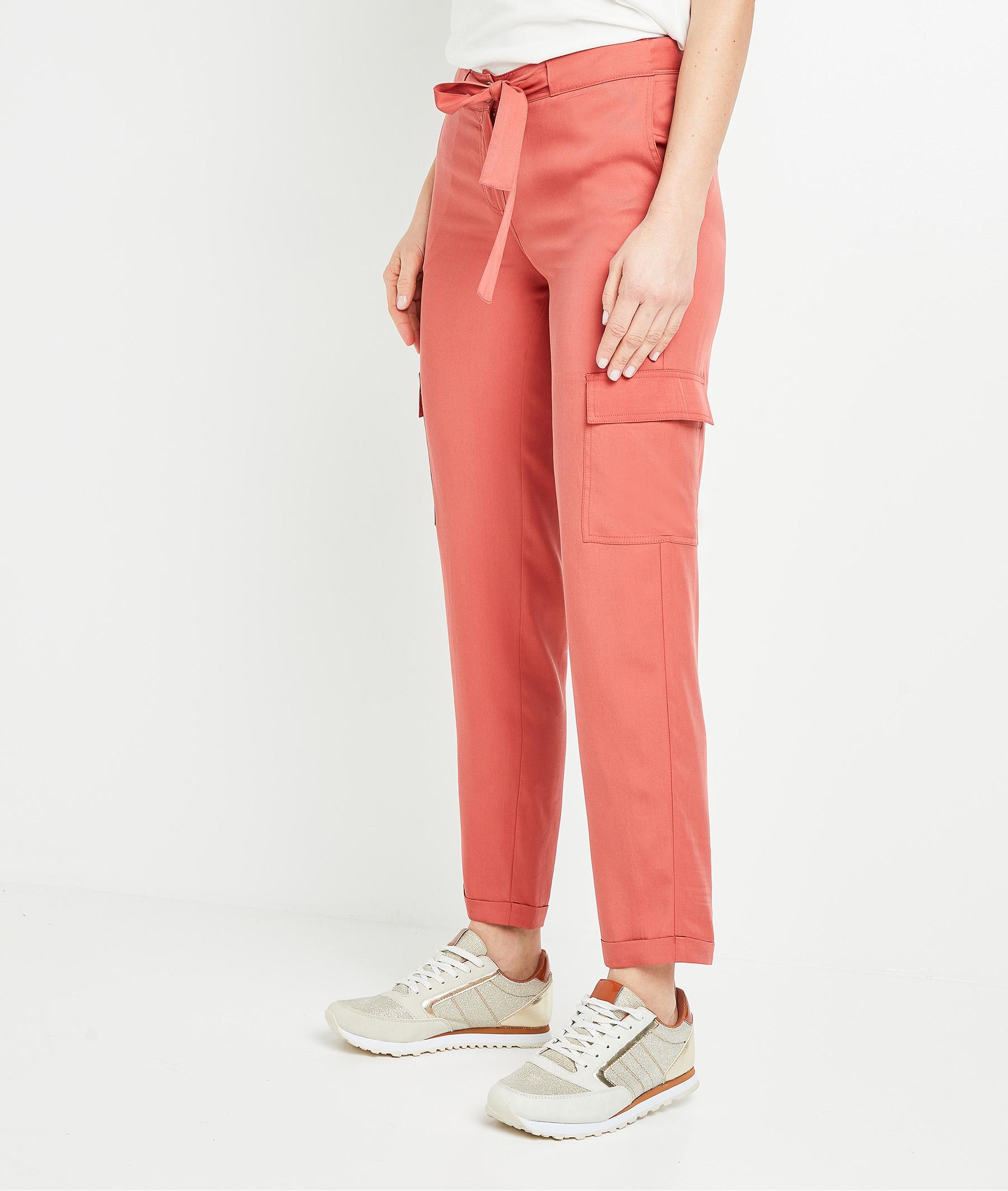 Pantalon chino en lyocell femme TERRACOTTA