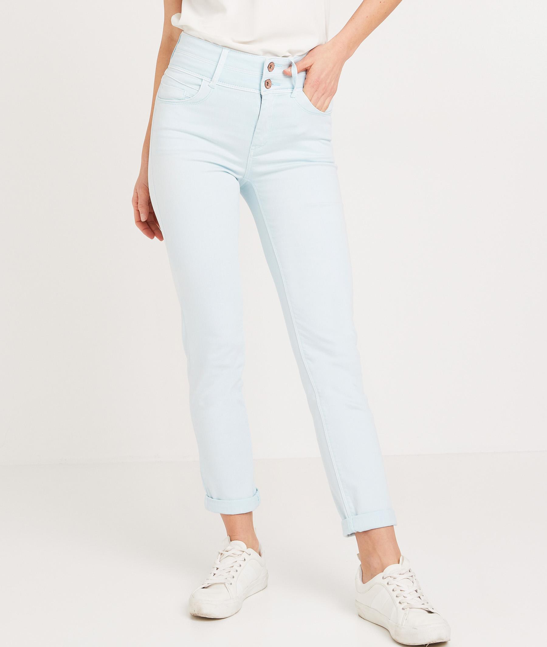 Pantalon taille haute raccourci femme LISERON